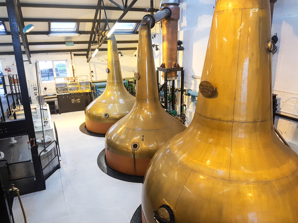 Distilling columns