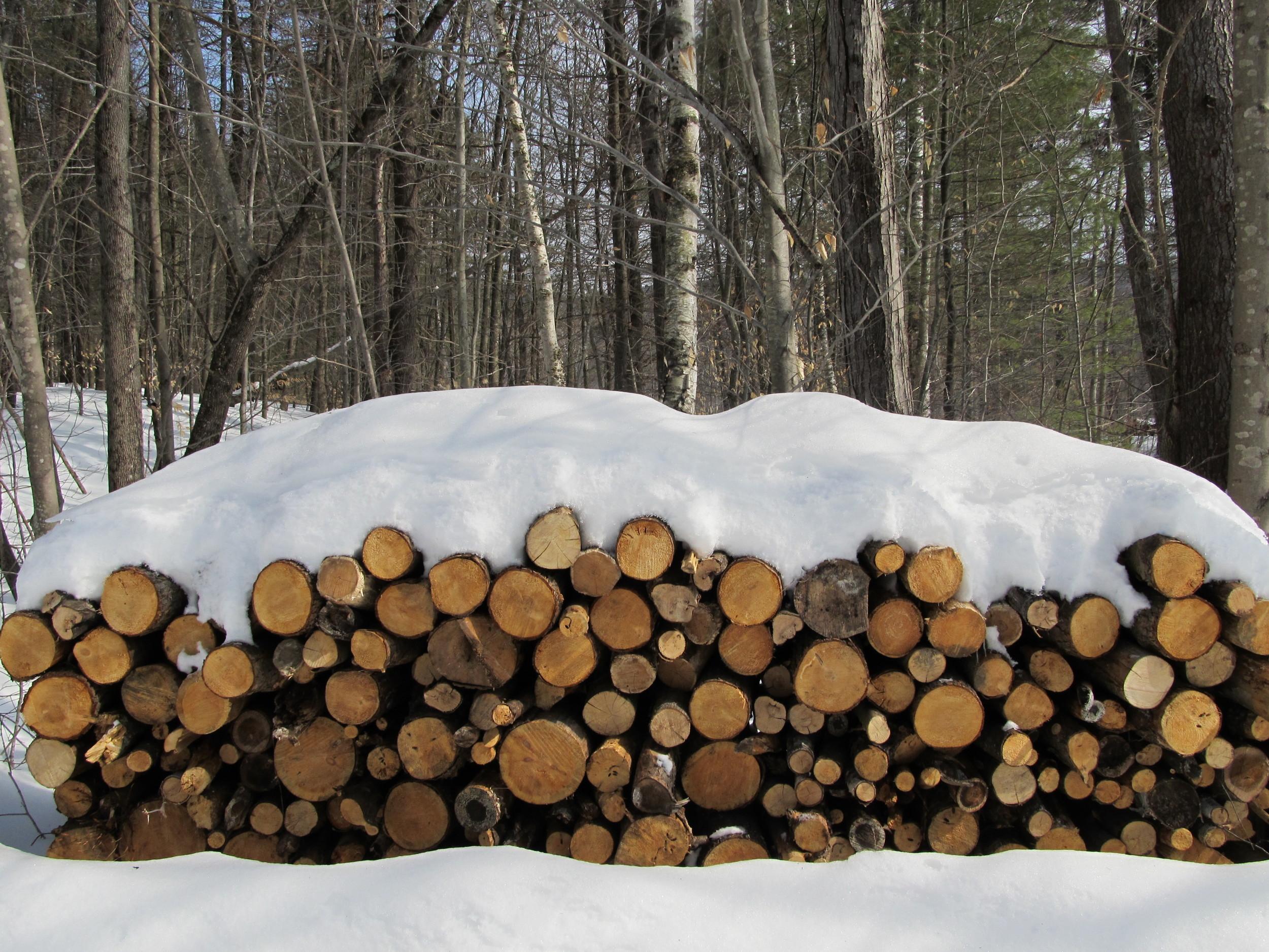 Wood on the landing
