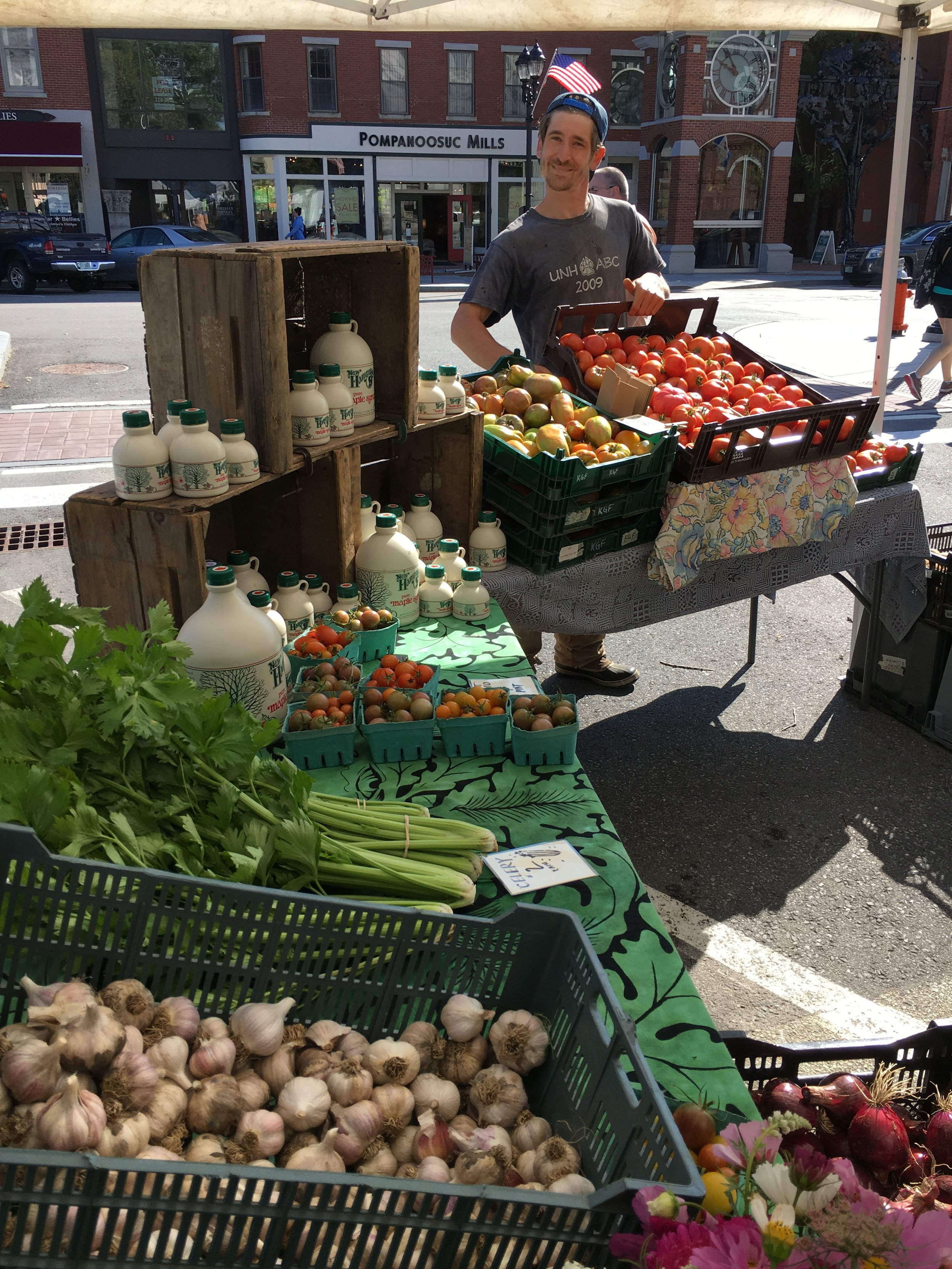 At the Concord Farmers' Market