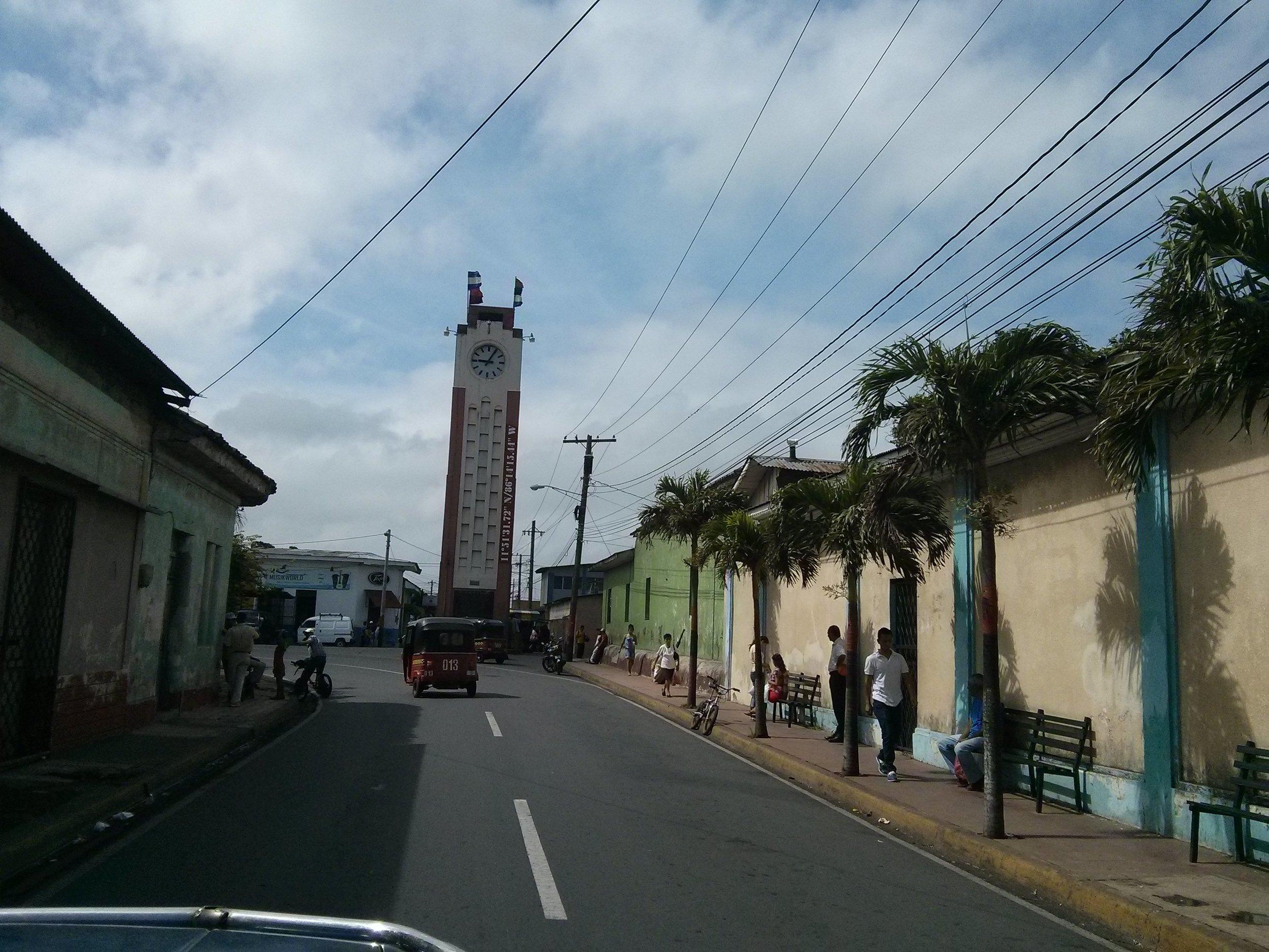 Clock tower in Diriamba, Nicaragua.