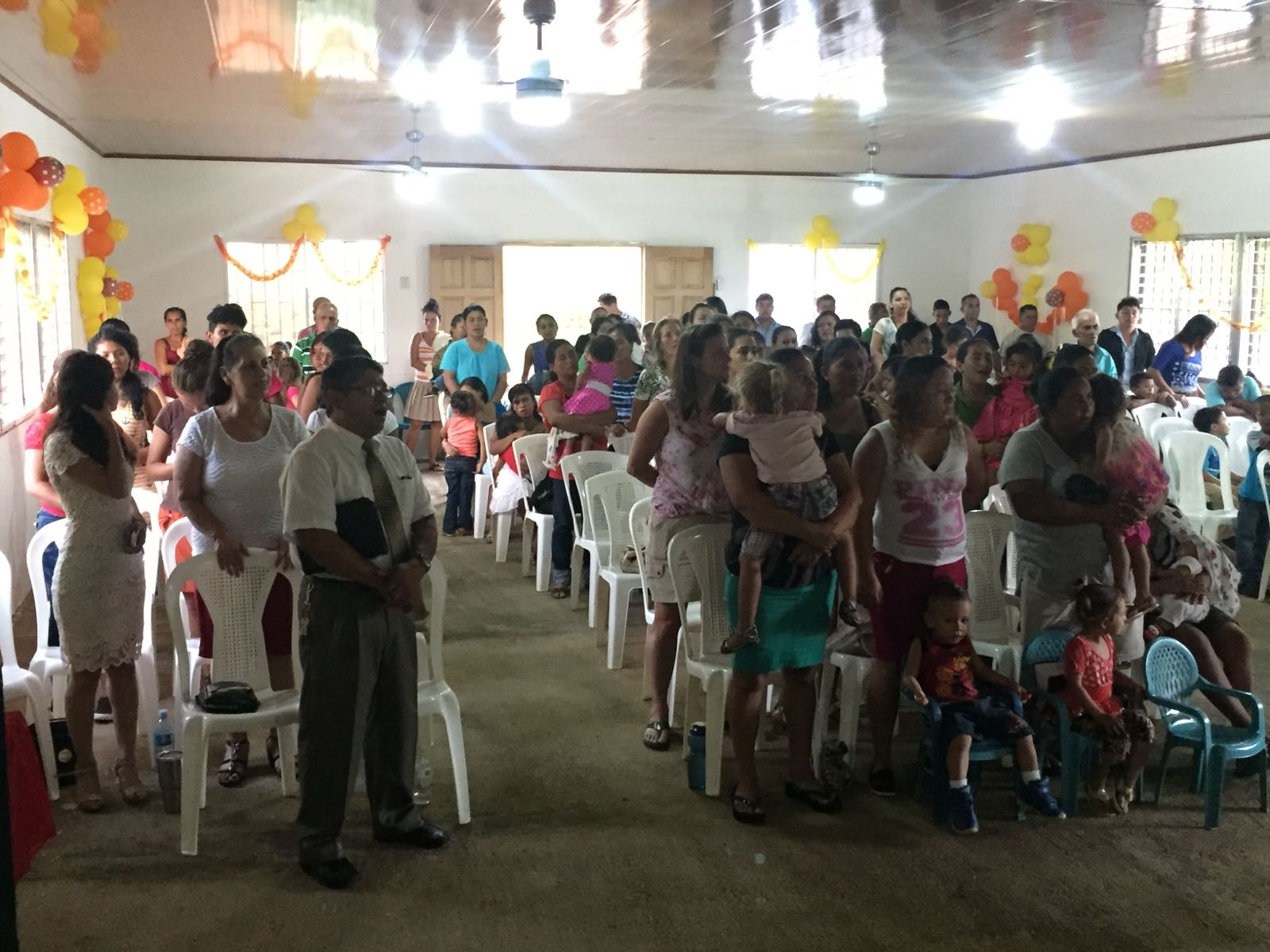 Church service in Tepano