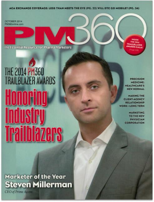 Steve Millerman on cover of PM 360 as Trailblazer Award recipient