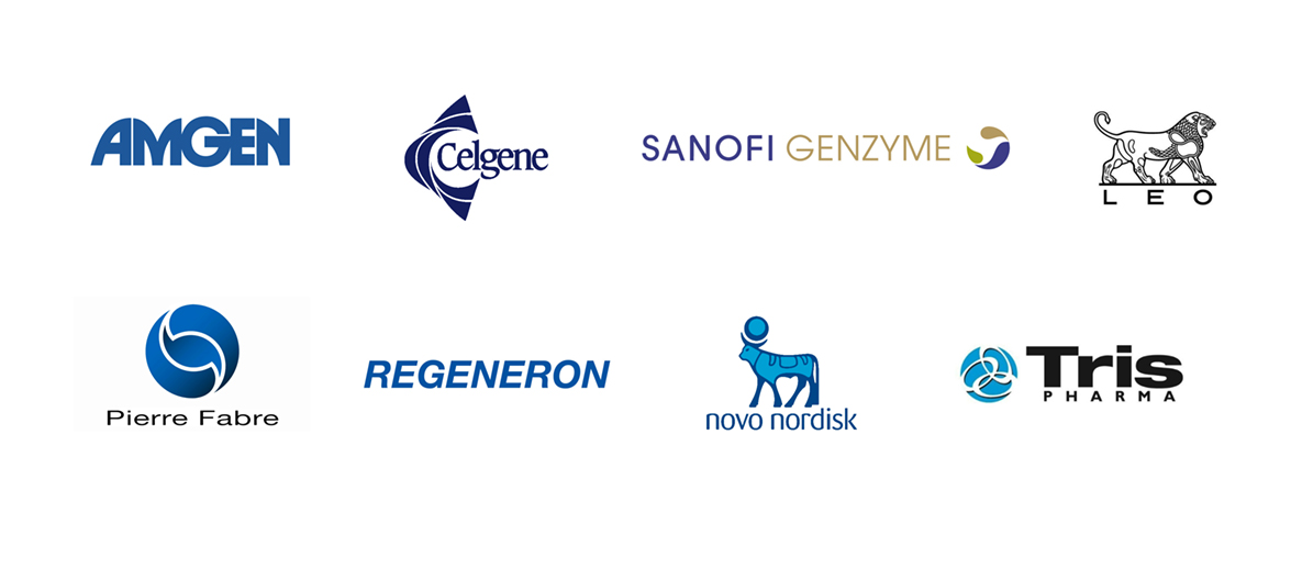 EMCAY clients include Amgen, Celgene, Novo Nordisk, Sanofi and more