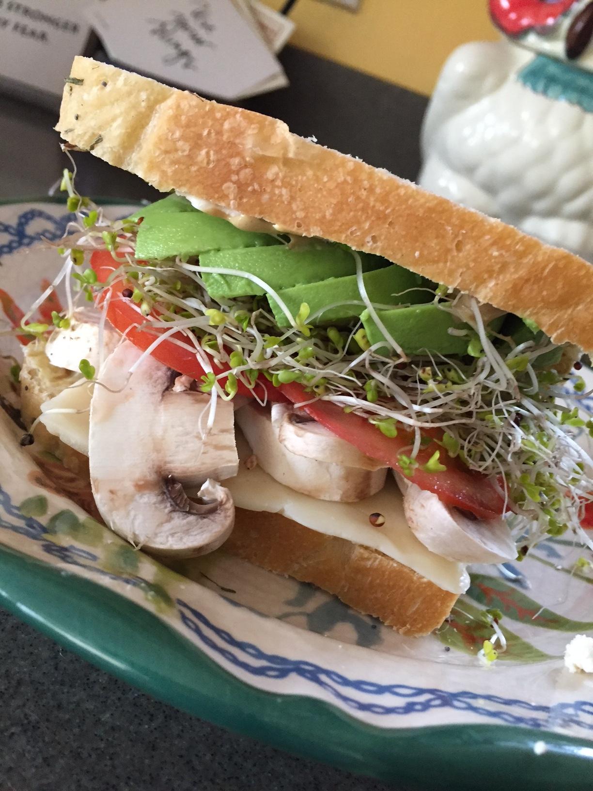my favorite homemade veggie sandwich