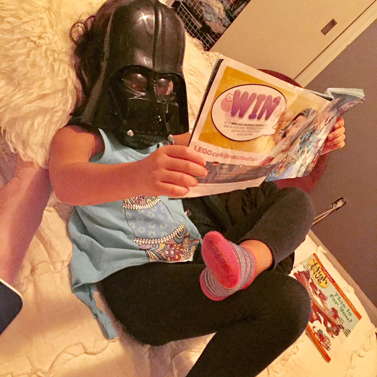 She Enjoys Reading ...