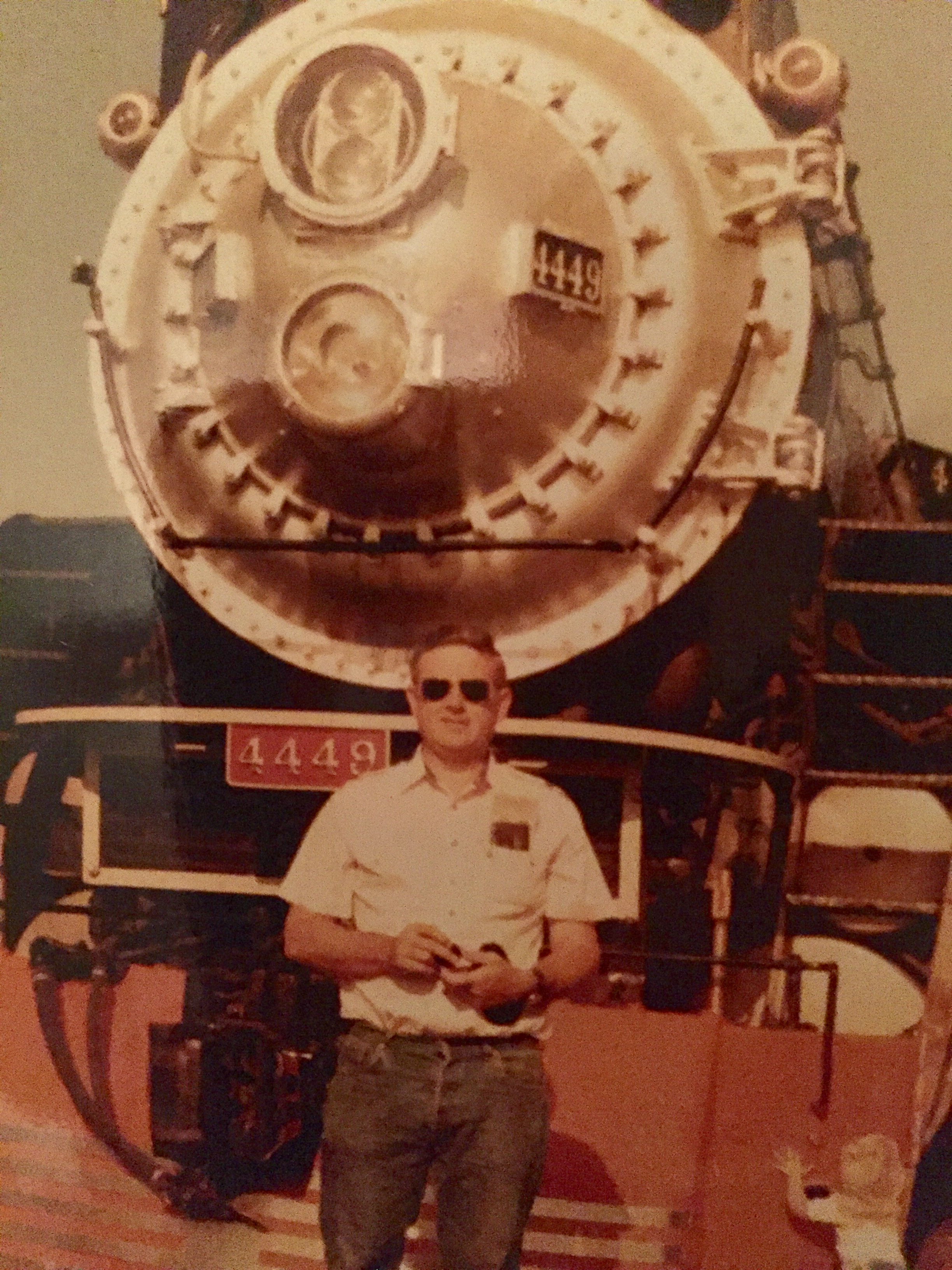 Larry Fleming   (pretty sure the smally fry trying to climb the giant train is teeny tiny me)