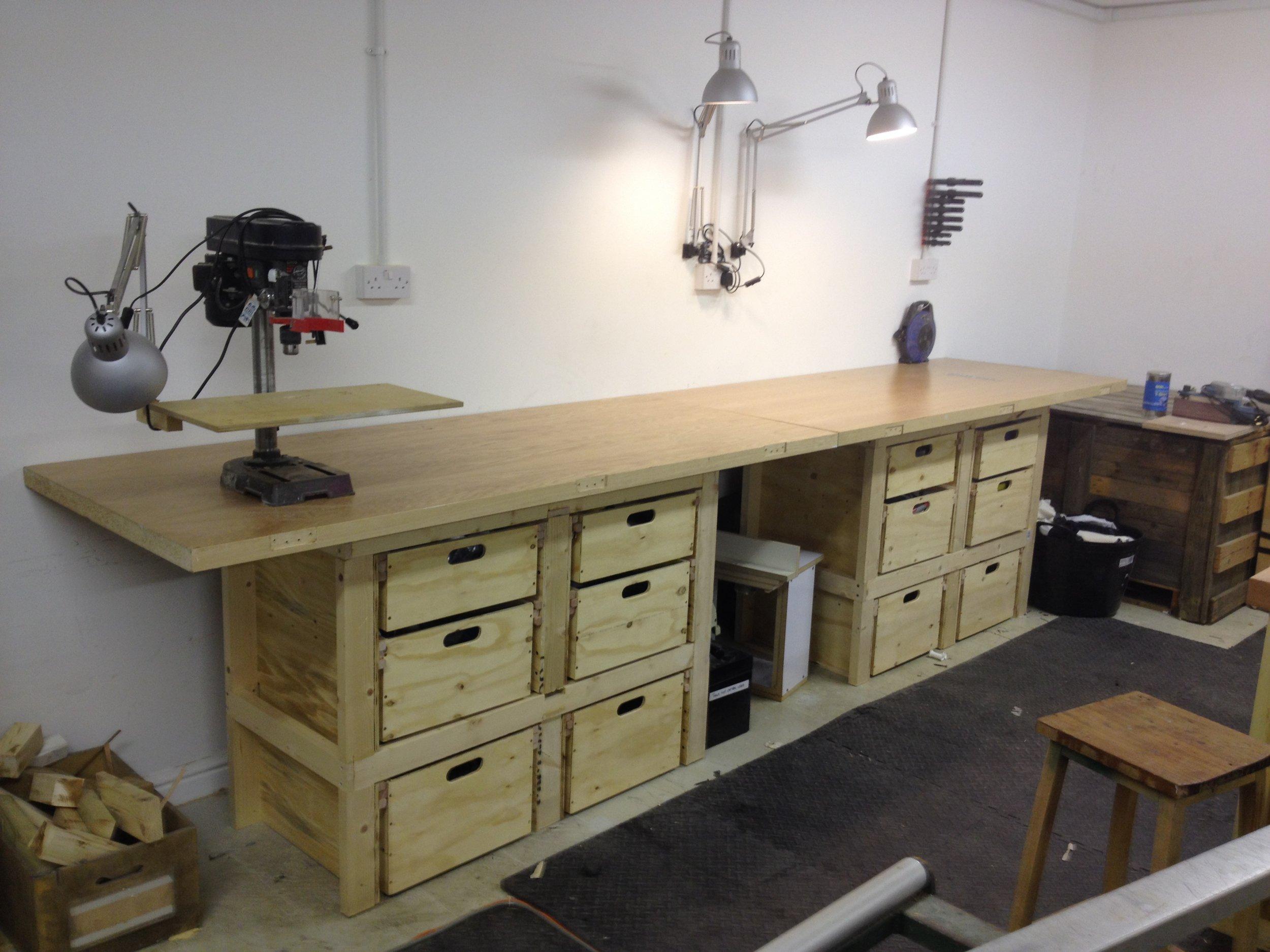 Work bench storage combo