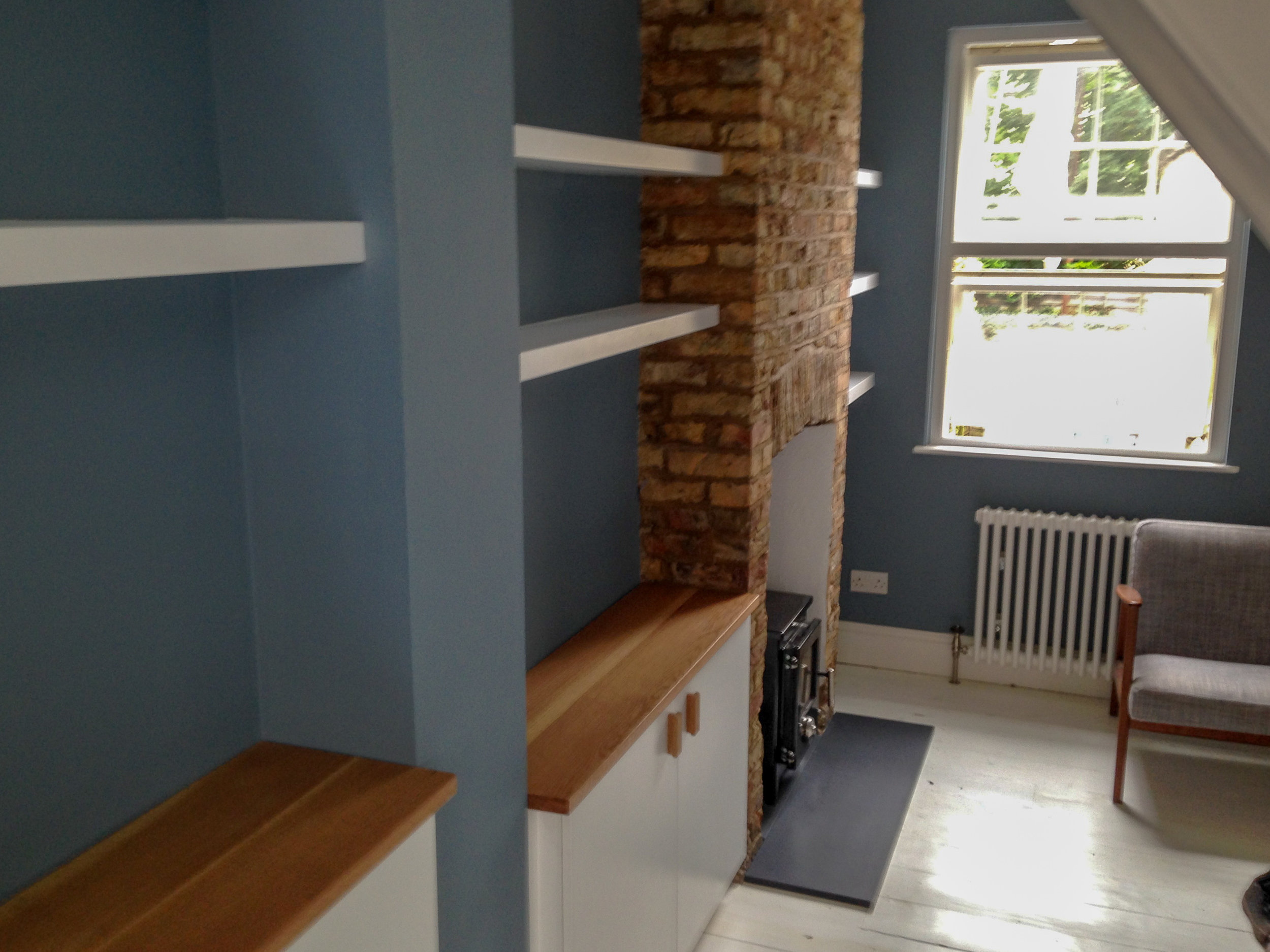 Oak Topped Alcoves