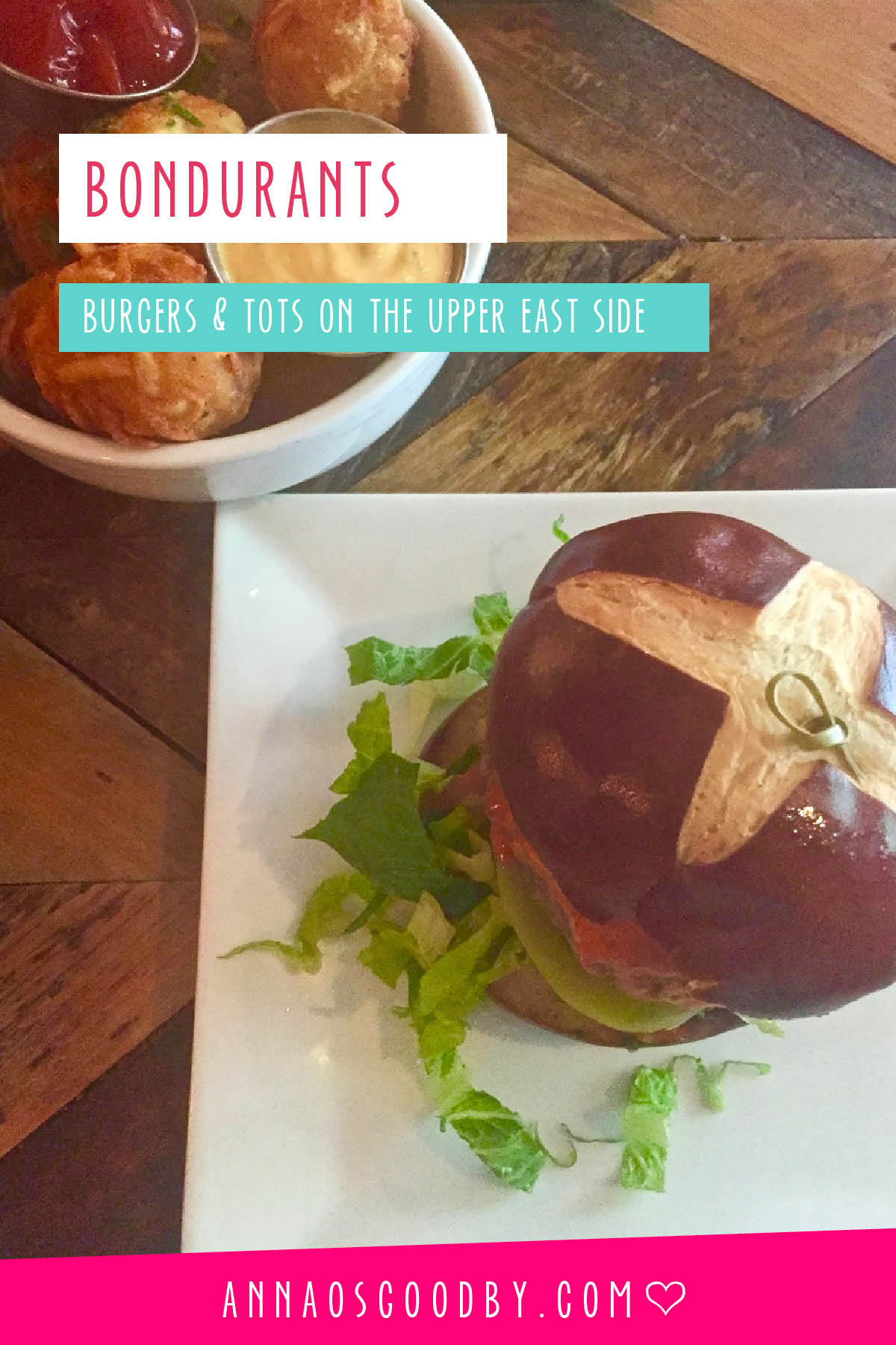 Anna Osgoodby Life + Design :: NYC Food -- Burgers and tots at Bondurants on the Upper East Side