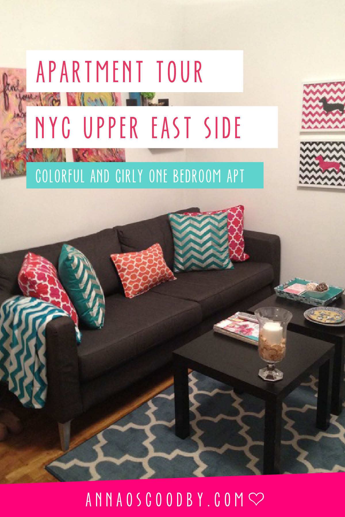Anna Osgoodby Life + Design :: NYC Apartment Tour Upper East Side Colorful One Bedroom