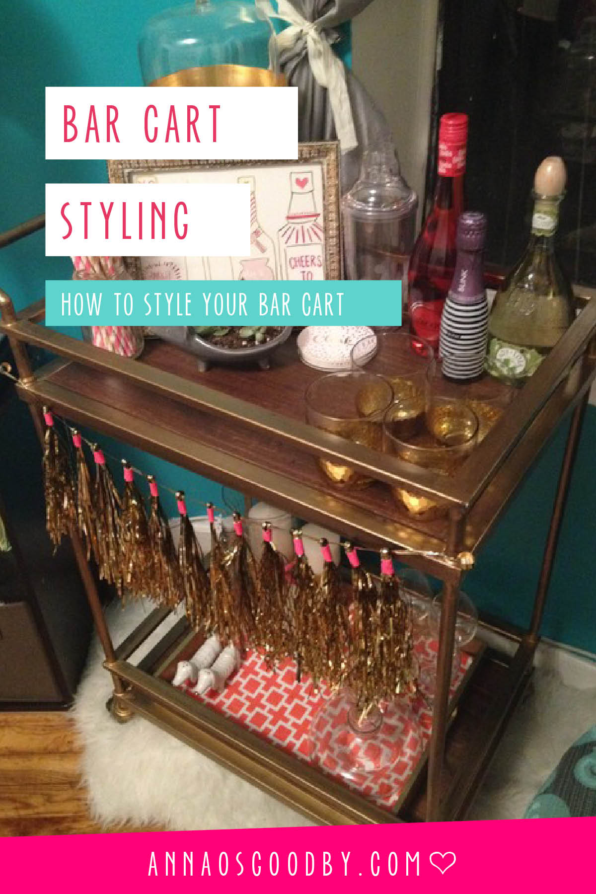 Anna Osgoodby Life + Design : How to Style Your Bar Cart