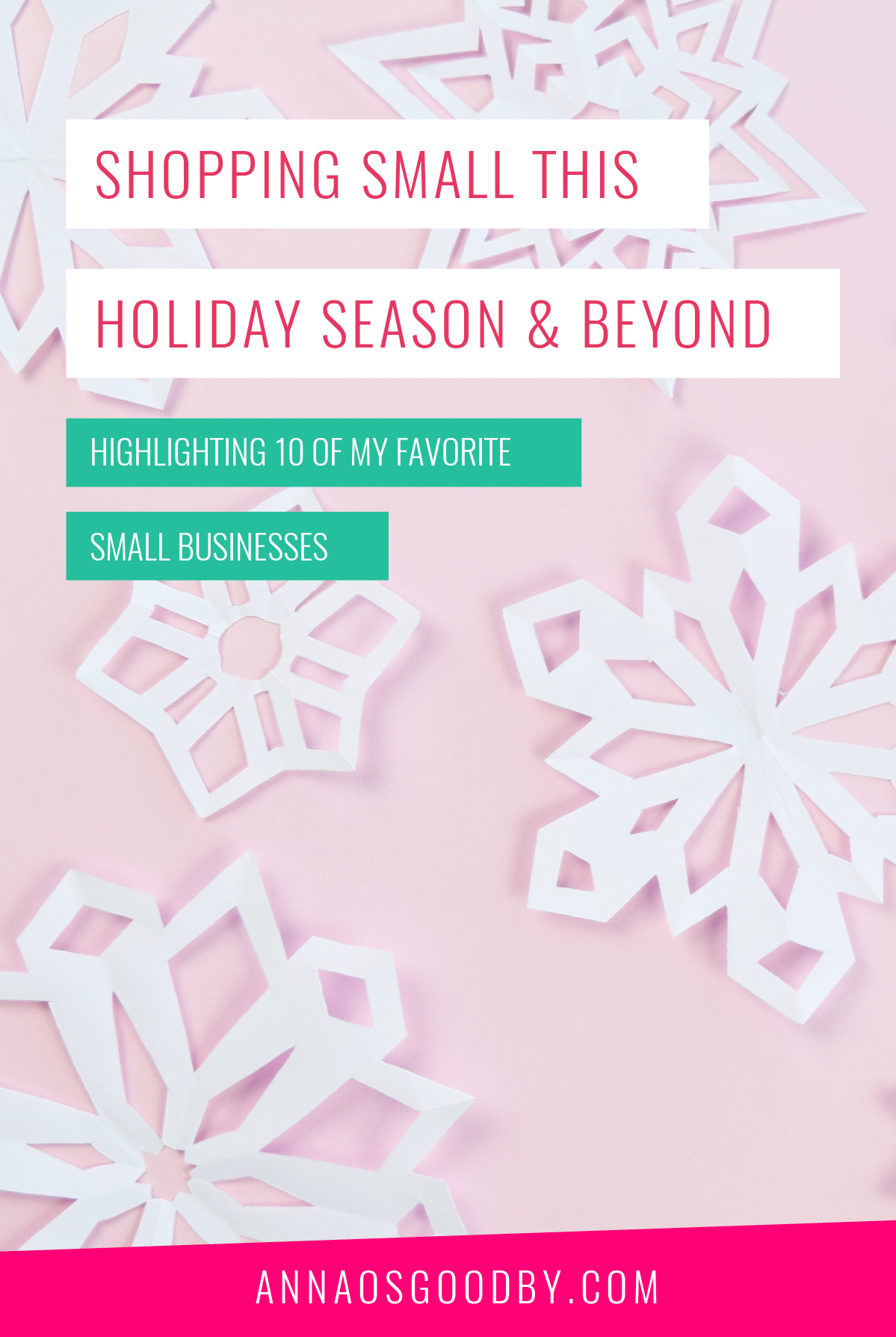 Anna Osgoodby Life + Design :: Shopping Small This Holiday Season & Beyond :: Highlighting 10 of My Favorite Small Businesses
