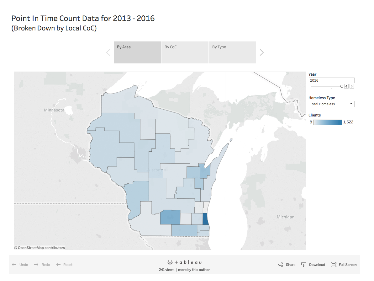 ICA Wisconsin Point in Time Data, 2013 - 2016 Data Portal