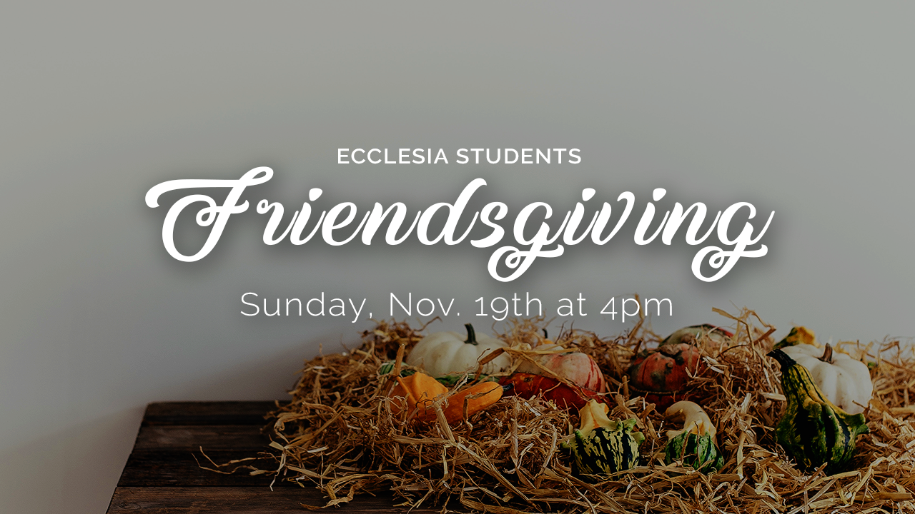 Students and their families are invited to share a meal with us on Sunday, November 19th at 4pm. We will meet in Firefly for some food and games. Childcare will be provided if needed.