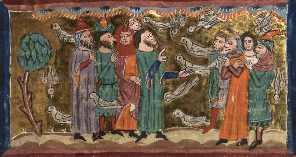 As you examine this painting of the scene from Numbers 11, consider the Manna and Quail to your soul.Manna resembles that which is a gift from Heaven for our sustenance that we may take for granted. Quail resembles that which we don't have and obsess over, thinking we'd be much better if God only provided it. Yet God, in His mercy, has kept quail from us since it is better for our souls not to have it.