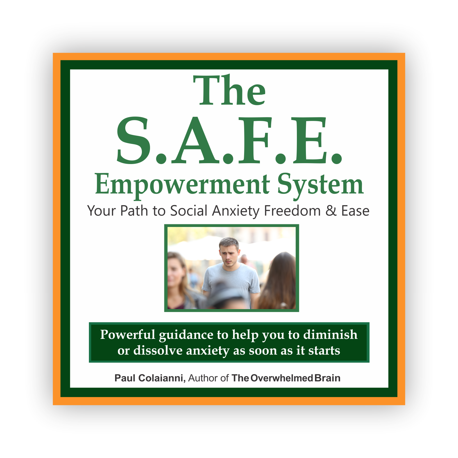 The S.A.F.E. Empowerment System - Join me, Paul and other experts as we take you on your path to social anxiety freedom and ease!Remember anxiety -social or otherwise…You don't have to live with it.You don't have to continue feeling insecure or awkward.You don't have to accept it and let it be a part of your daily life.In fact, most anxiety is highly treatable. Yet, less than 40% of the people that have it get treatment. Many more try books, videos, and other anti-anxiety material, and still cannot get into a more relaxed and comfortable space inside themselves.Then there are those that have sought professional help through therapy and still can't find the peace they are looking for.The rest just give up because nothing seems to work.That's why this program exists. There is a path to freedom and ease with anxiety and it starts here.Click Here for More Info!
