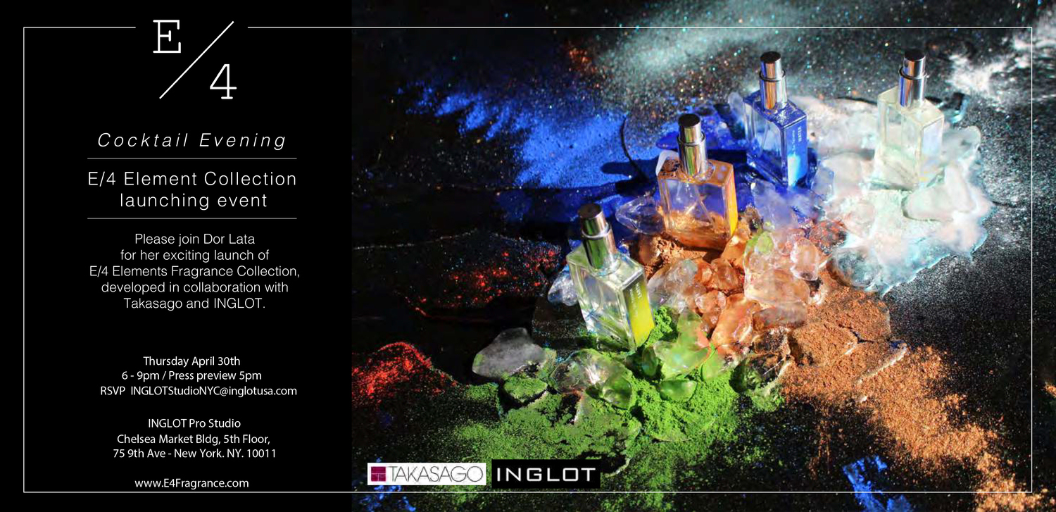 2015.04.30/  E/4 Launch Party at Inglot showroom, Chelsea Market.