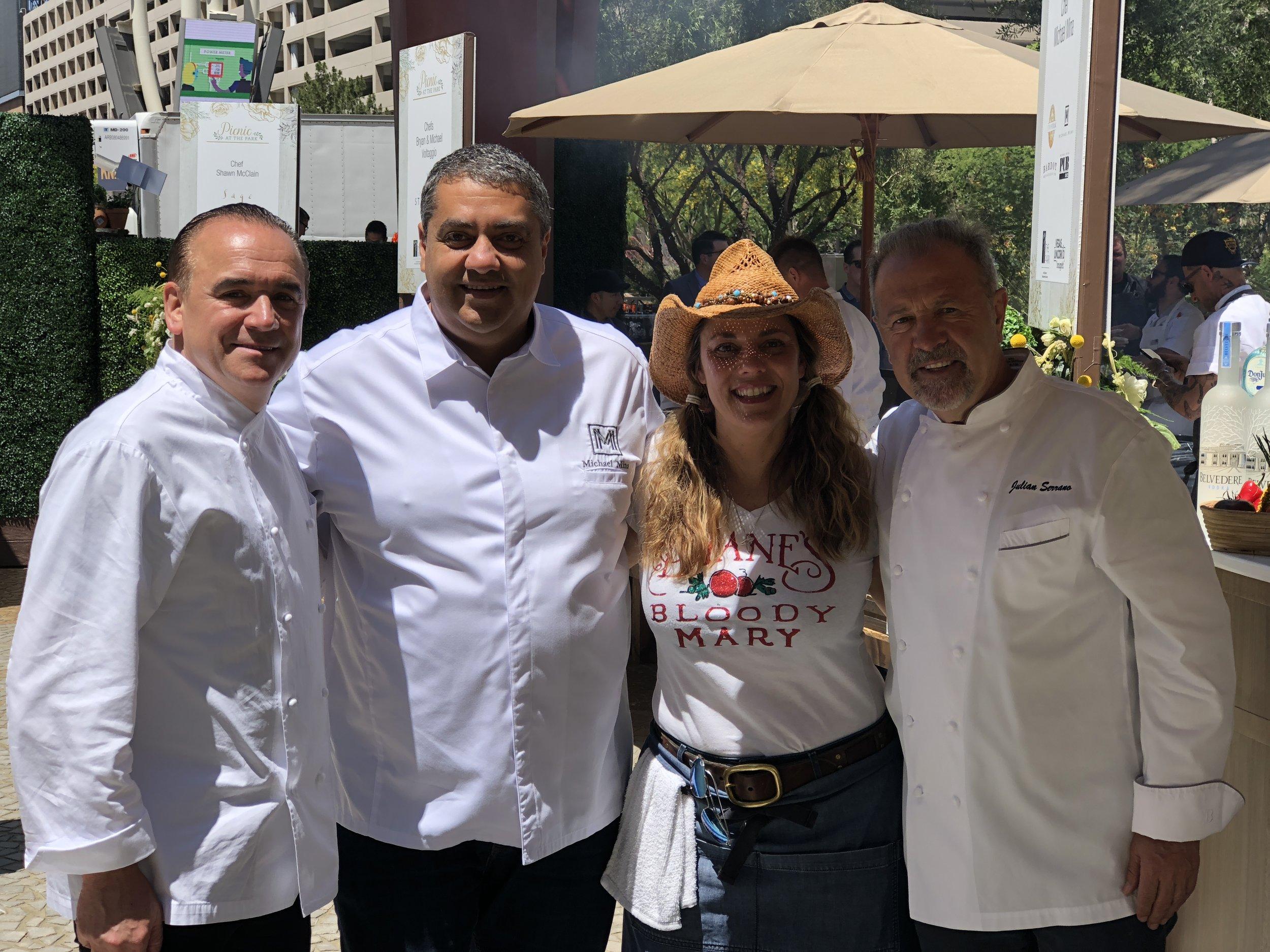 Jean-Georges Vongerichten, Michael Mina, Diane Mina, Julian Serrano - Picnic at The Park - 2018