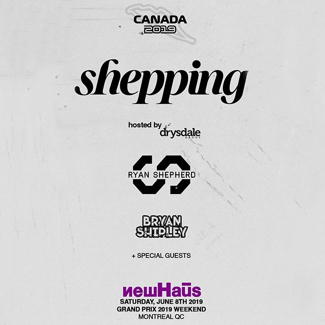 Bringing the Shepping party to F1 weekend in Montreal June 8 at the brand new @newhausbar 👀🤘🏼 #shepping #grandprix