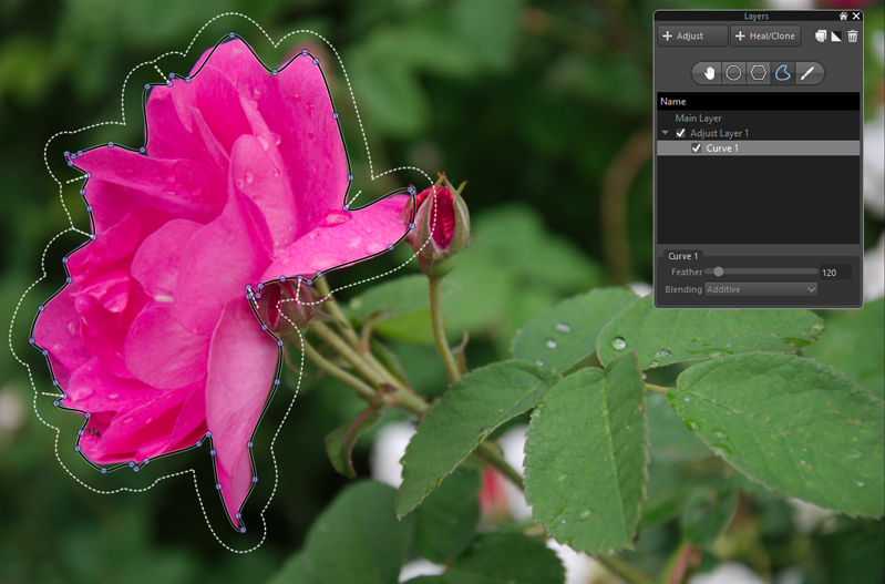 Precise control with selective editing in Corel's AfterShot Pro