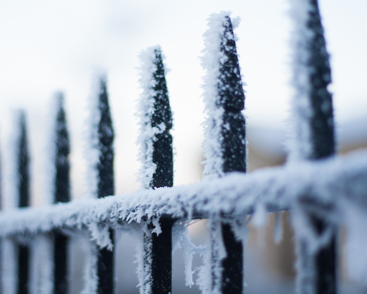 As bright and white as snow, but definitely frost