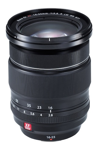 The weather resistant 18-55mm Fujifilm lens