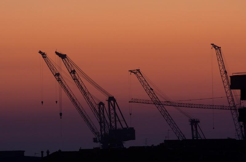 Silhouette at the Livorno docks