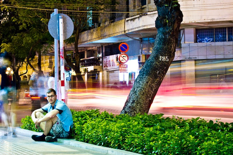 Asking your subject to hold still, especially if you want to create a long exposure image, can be effective