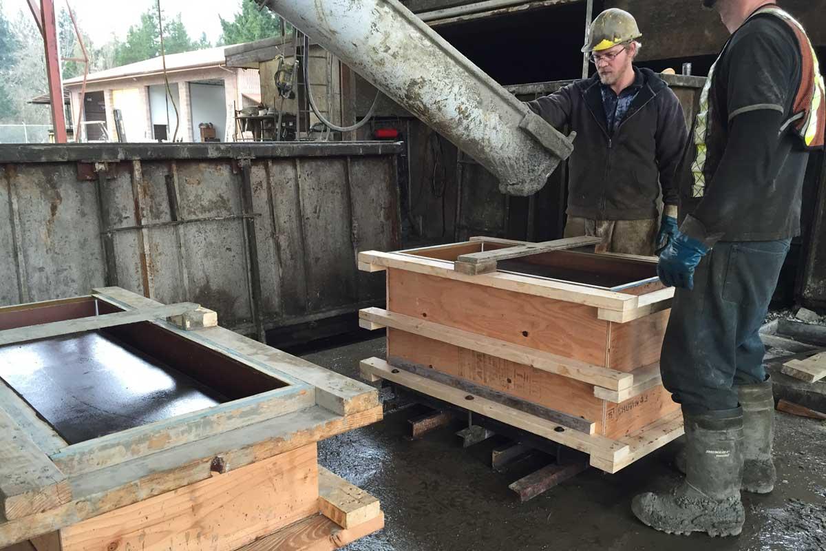 conventional precast concrete planters
