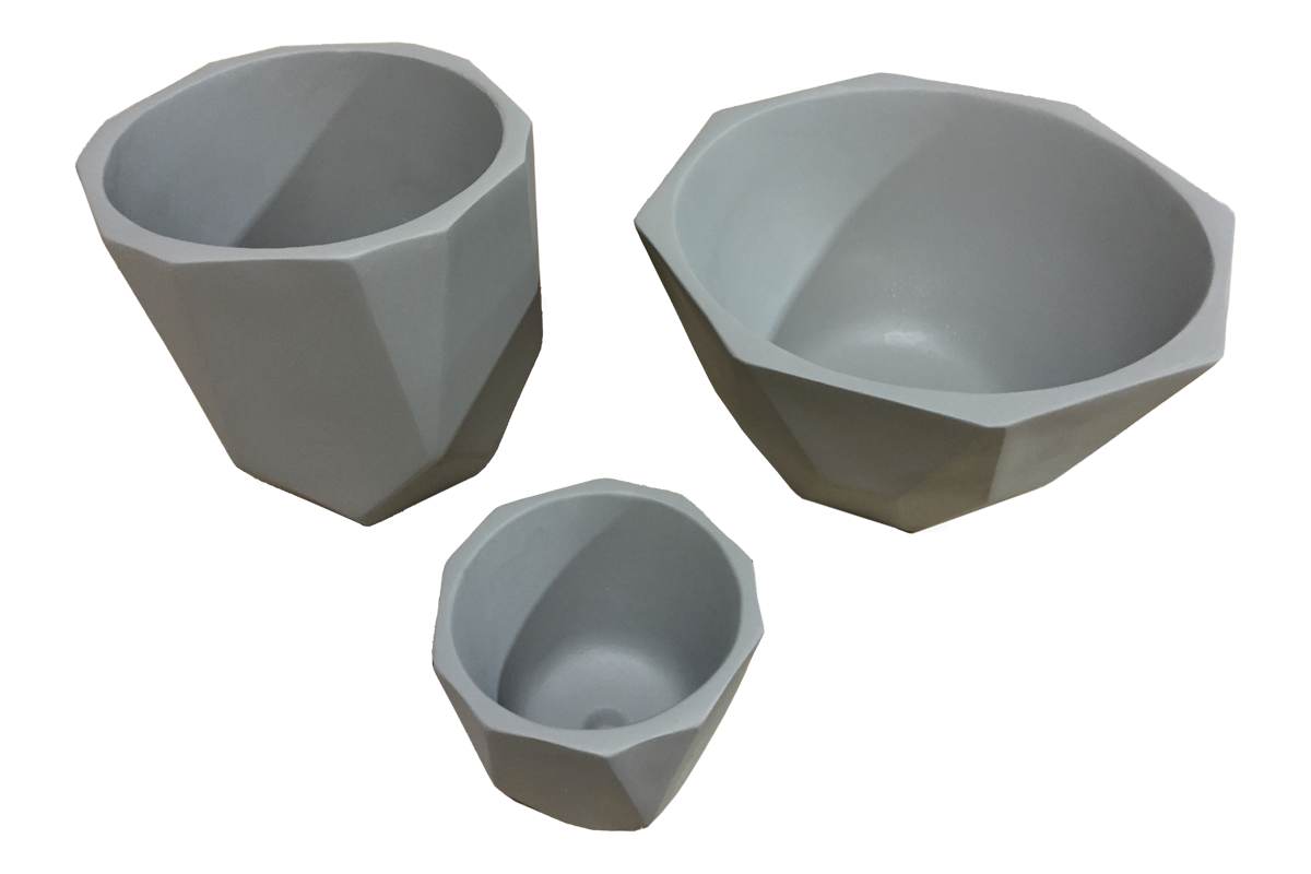 facetted ductal mini planter