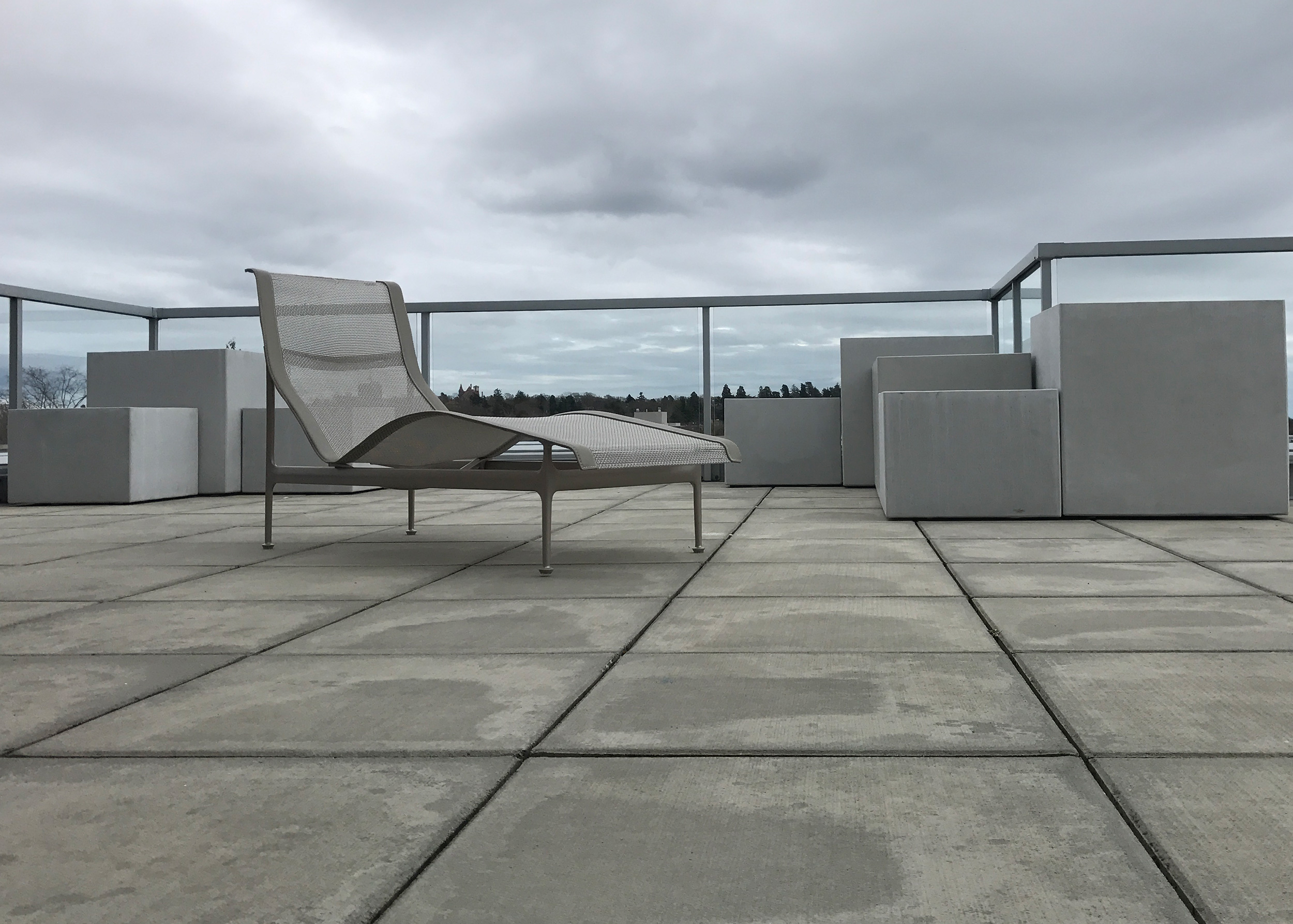 UHPC concrete planter install