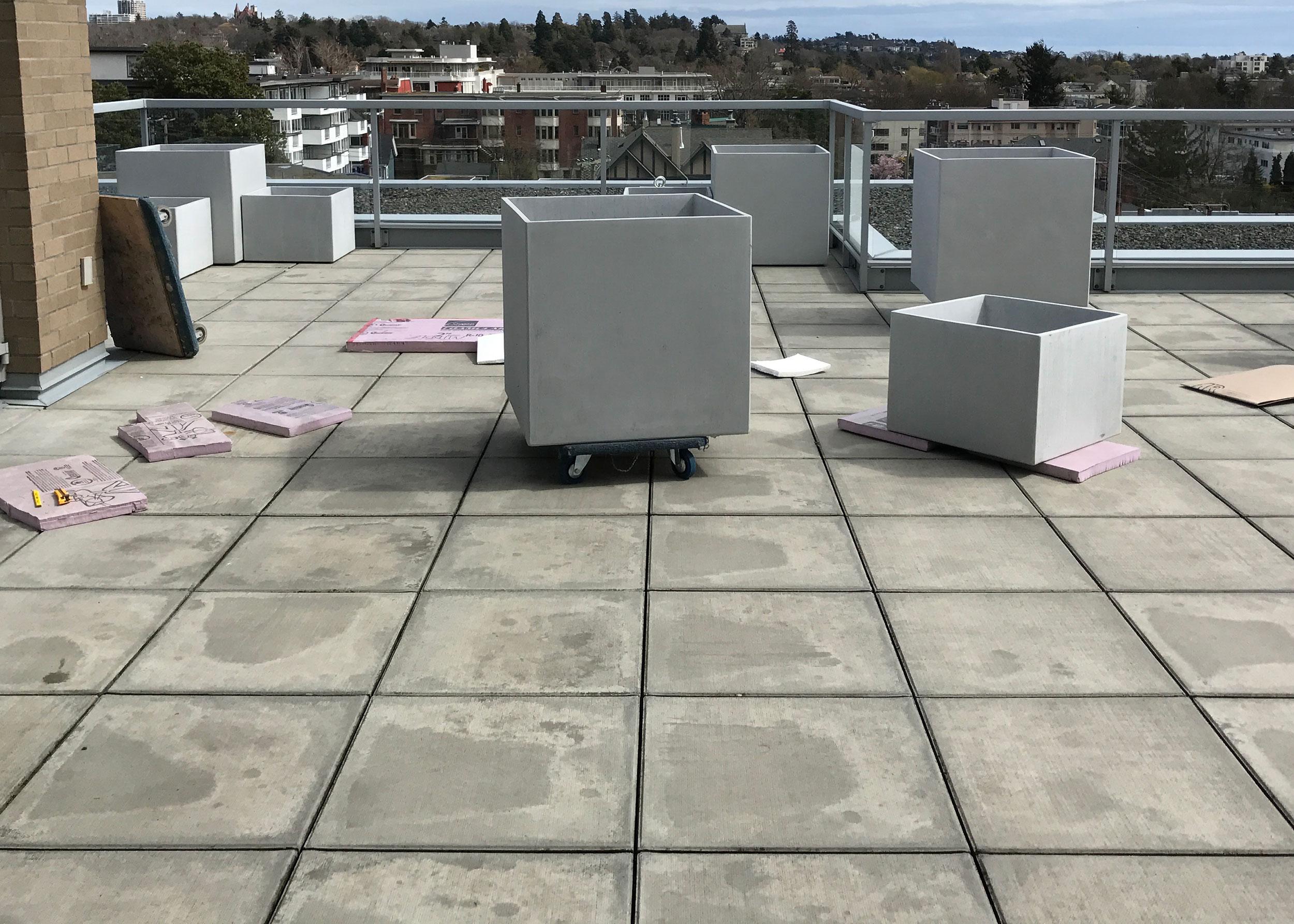 installation of UHPC pots