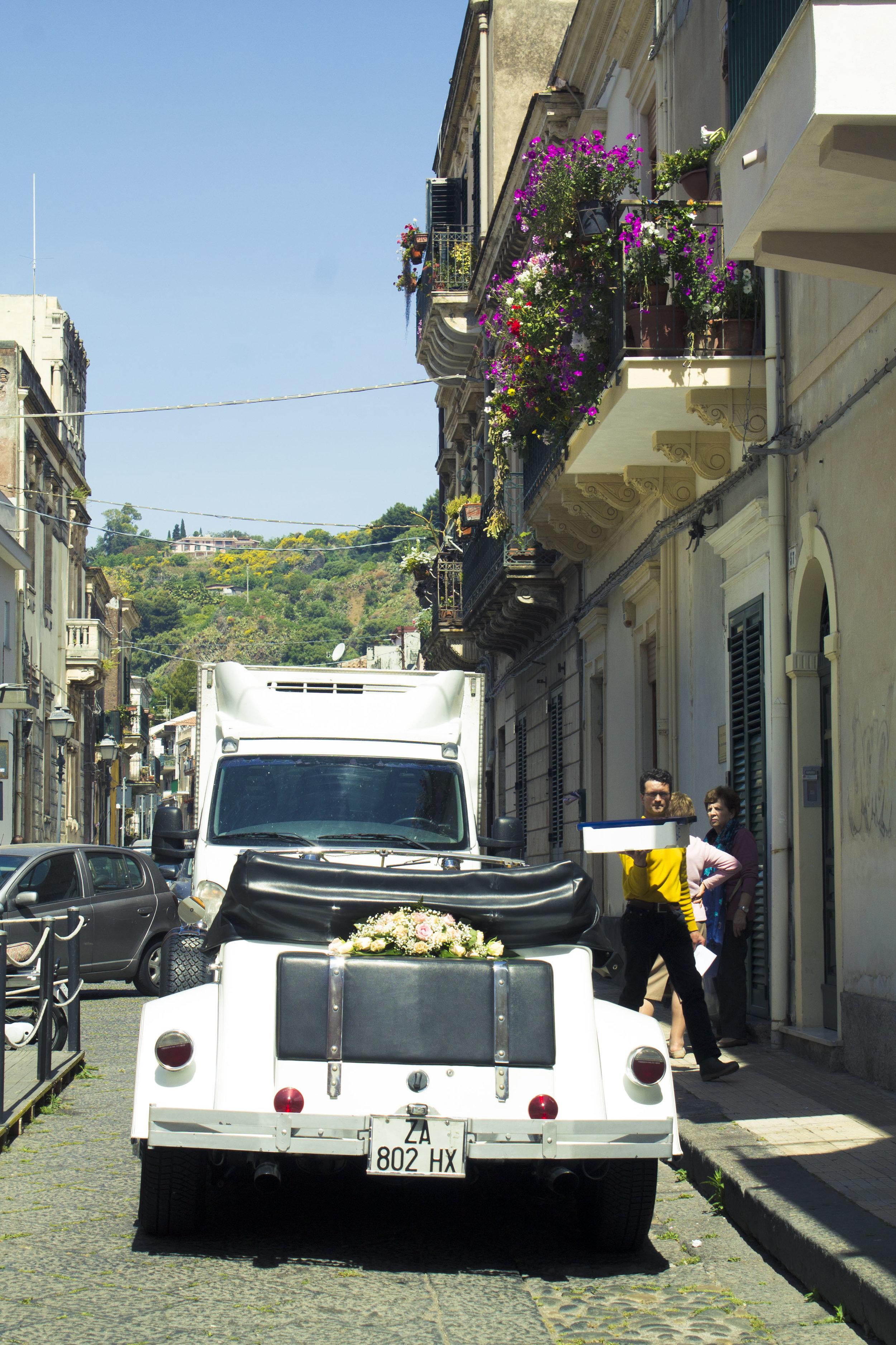 Traveling around Catania, Italy