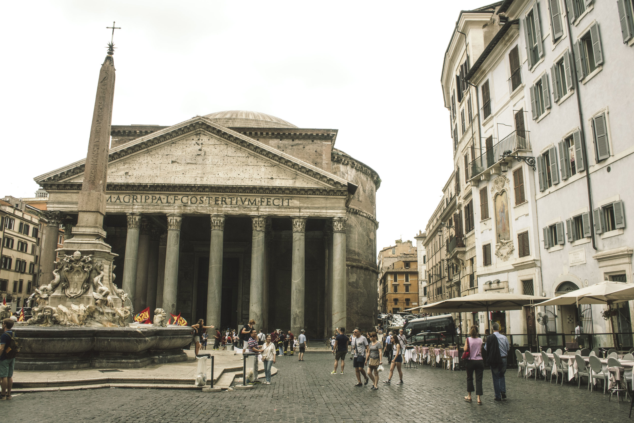 A visit to the Pantheon in Rome, Italy
