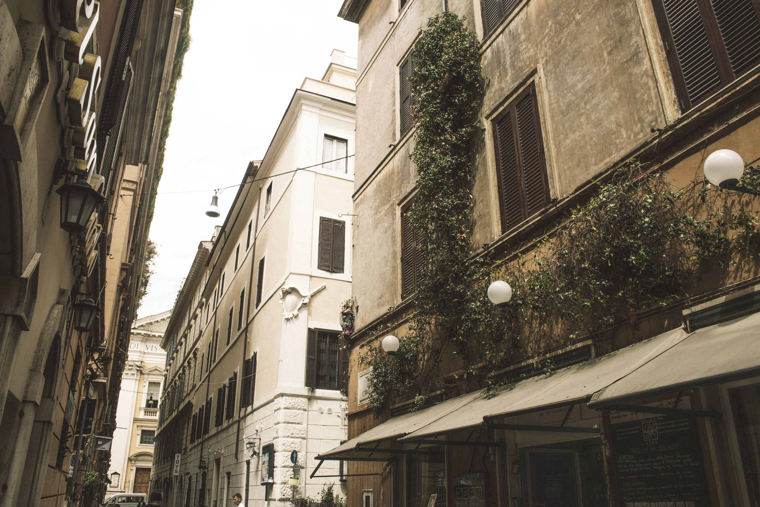 Wandering through the streets of Rome, Italy