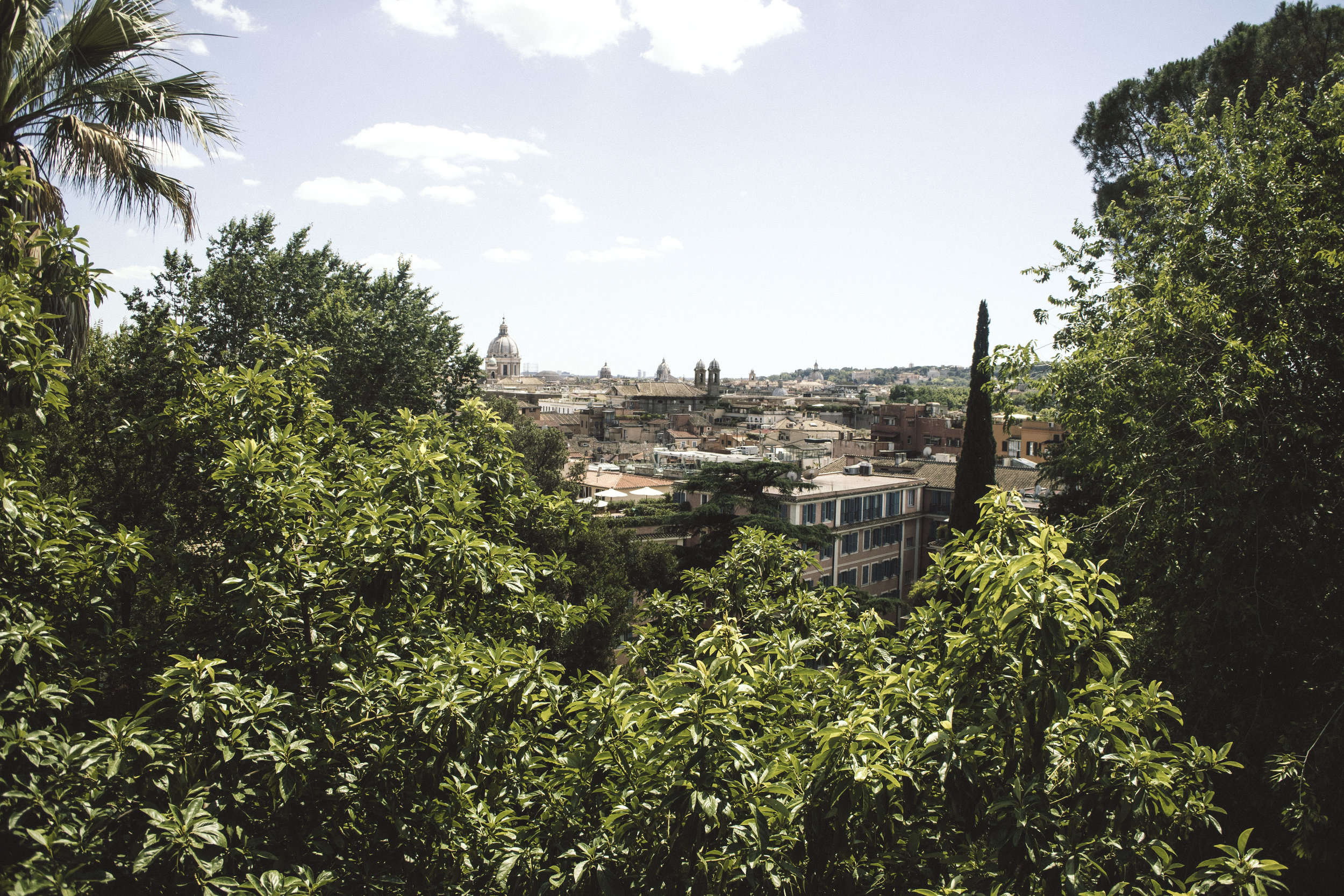A scenic view of Rome from Terrazza del Pincio