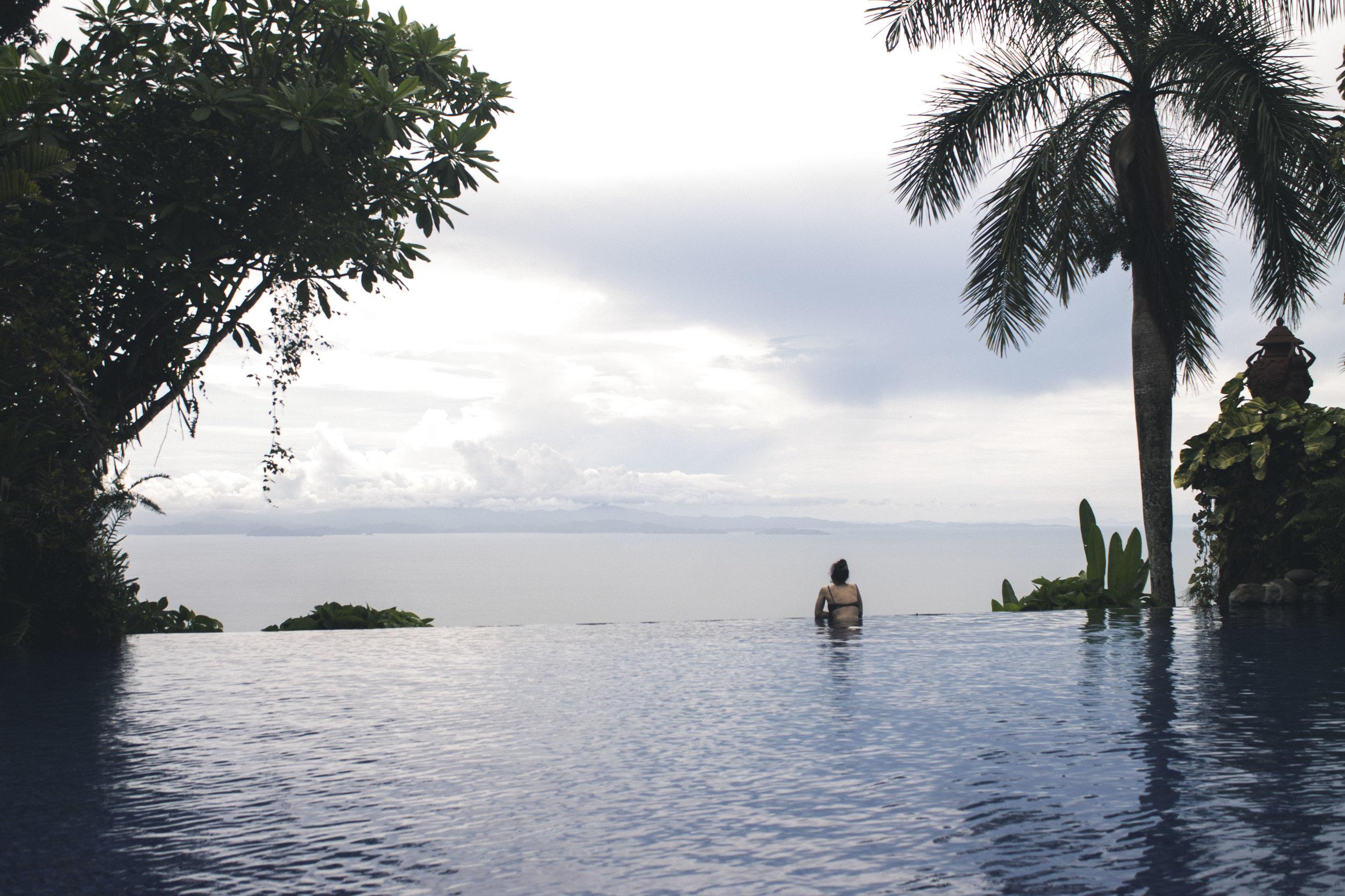 Infinity pool at Villa Caletas in Jaco, Costa Rica