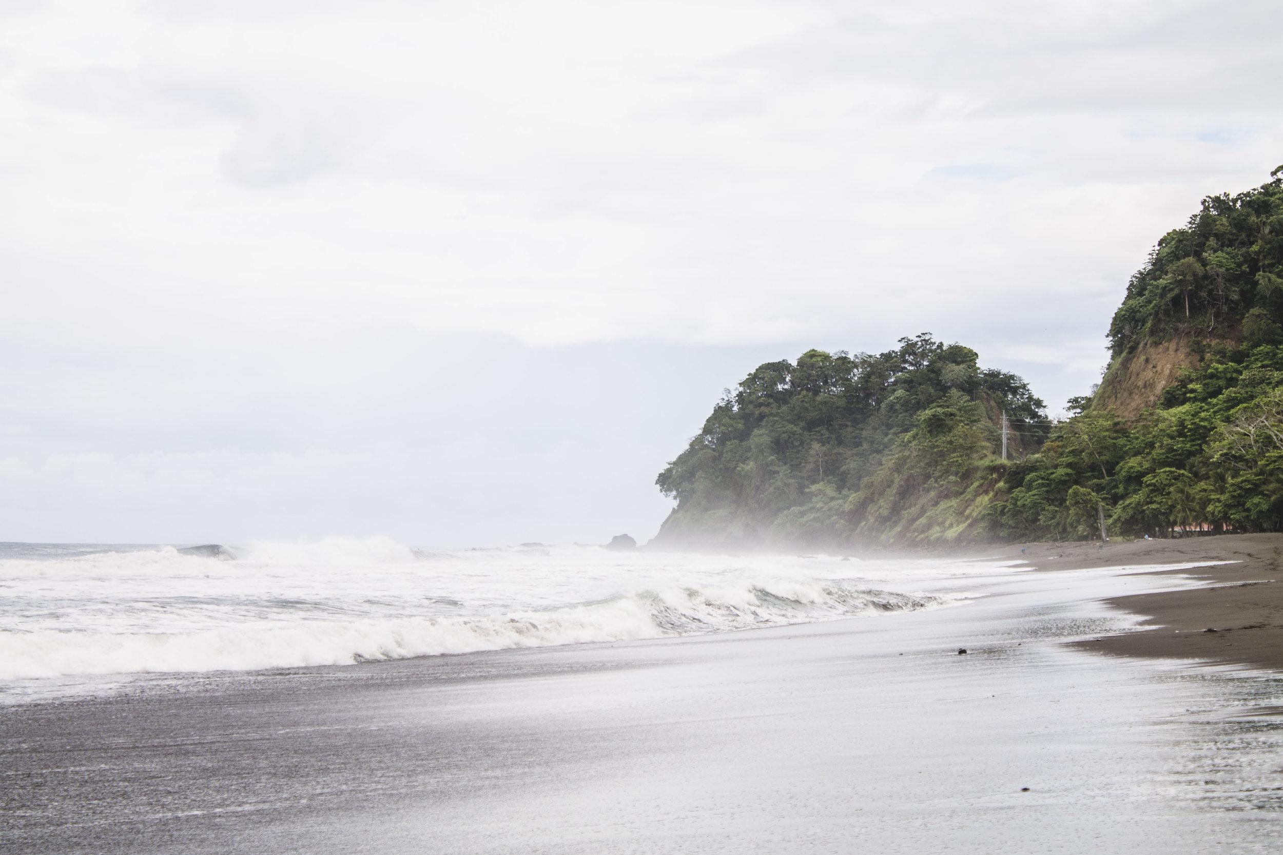 Playa Hermosa in Jaco, Costa Rica during the rainy season