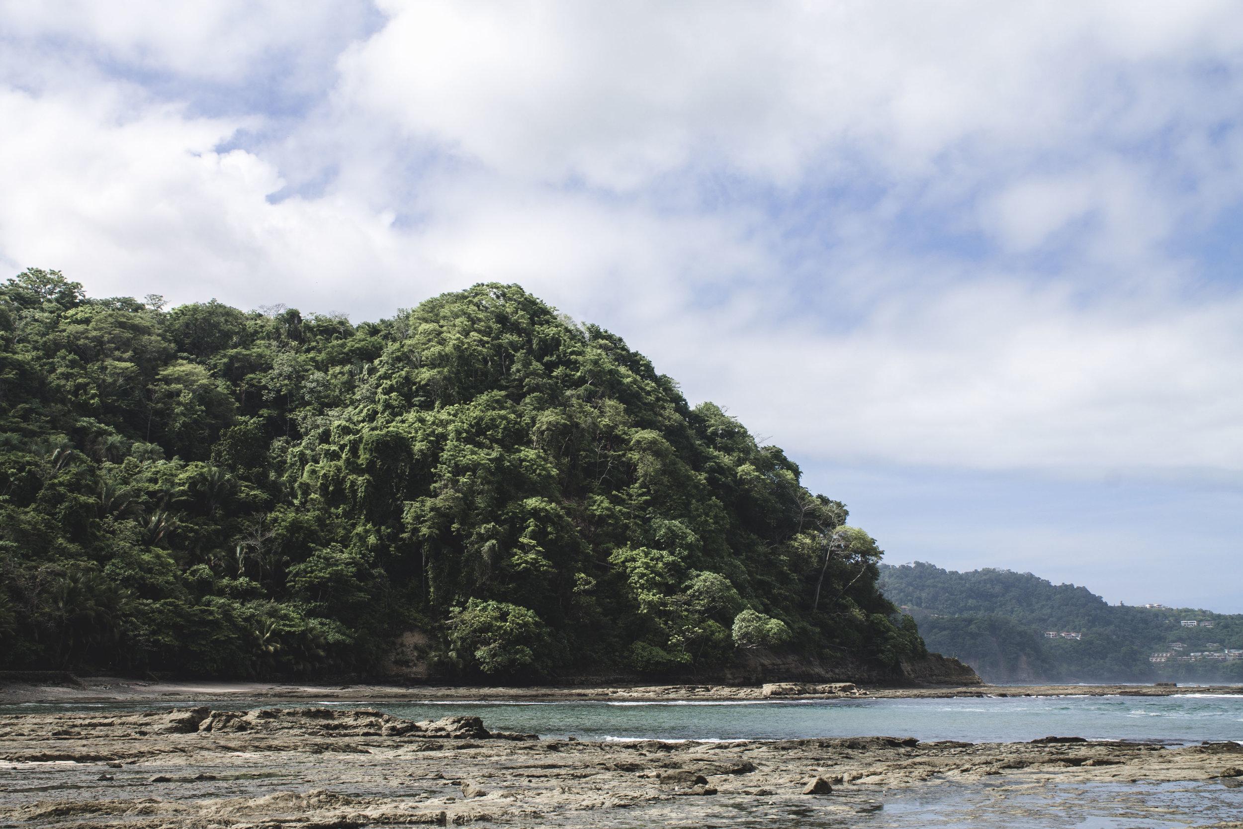 View from the private beach at Villa Caletas in Jaco, Costa Rica