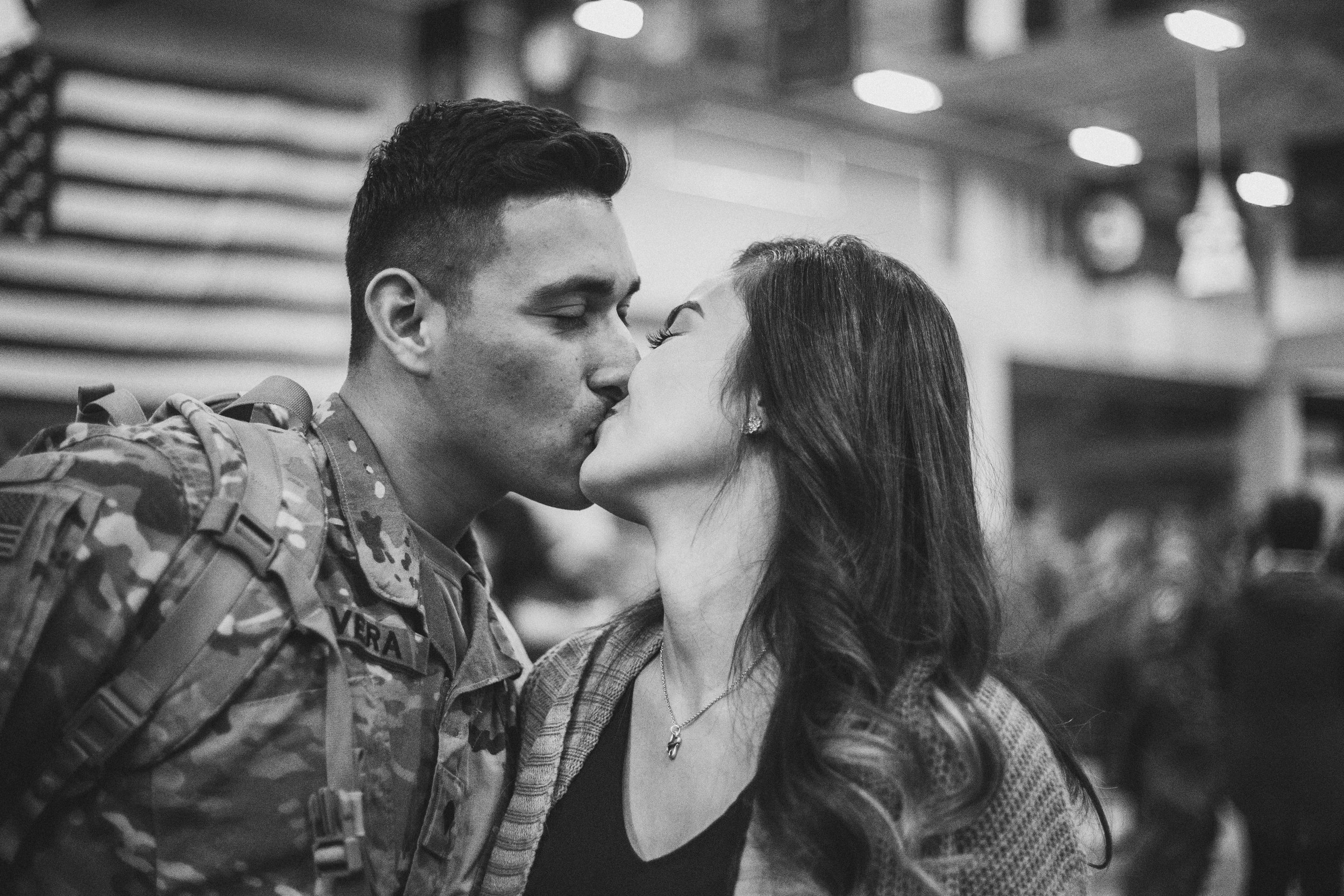 Couple reunites for homecoming in Fort Benning, GA after husband's nine month deployment in Afghanistan