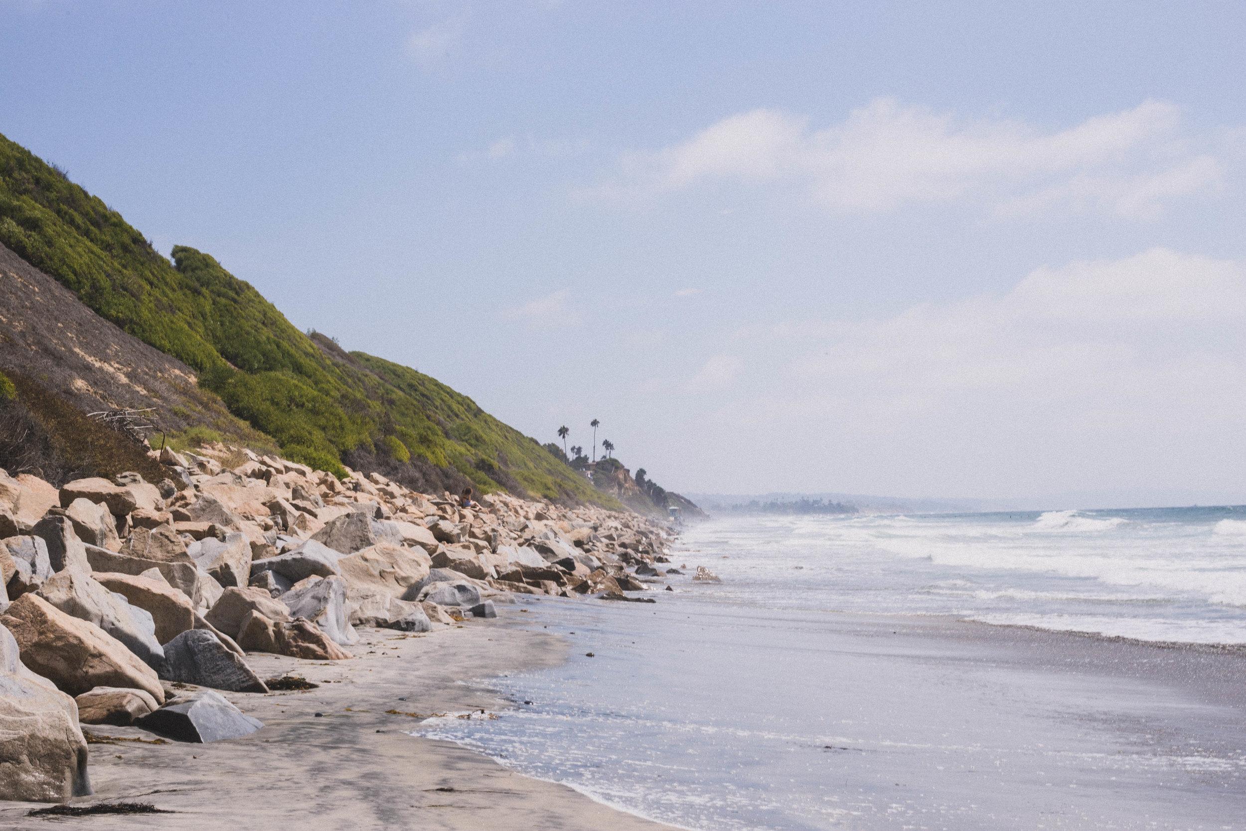 Swamis Beach in Encinatas (City Guide to San Diego)
