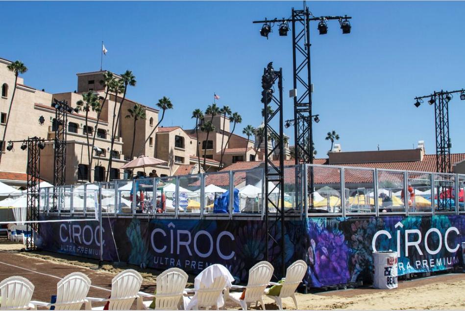KAABOO Festival // Complete outdoor pool, custom decking and digitally printed platform skirting