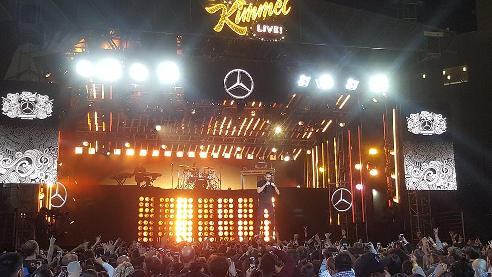 Halsey G-Eazy on Jimmy Kimmel Live - Stage Platforms Set Flat Walls