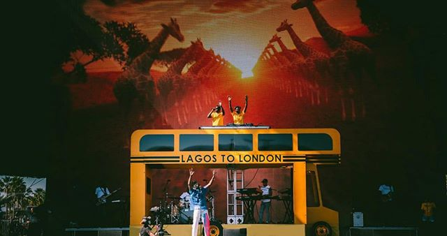 We helped @mreazi bring his #LagosToLondon bus to the desert @coachella. Our fabrication team utilized platforms & set flat walls to create his custom bus structure on the #CoachellaStage 🚌🔥 // 📸: @mreazi