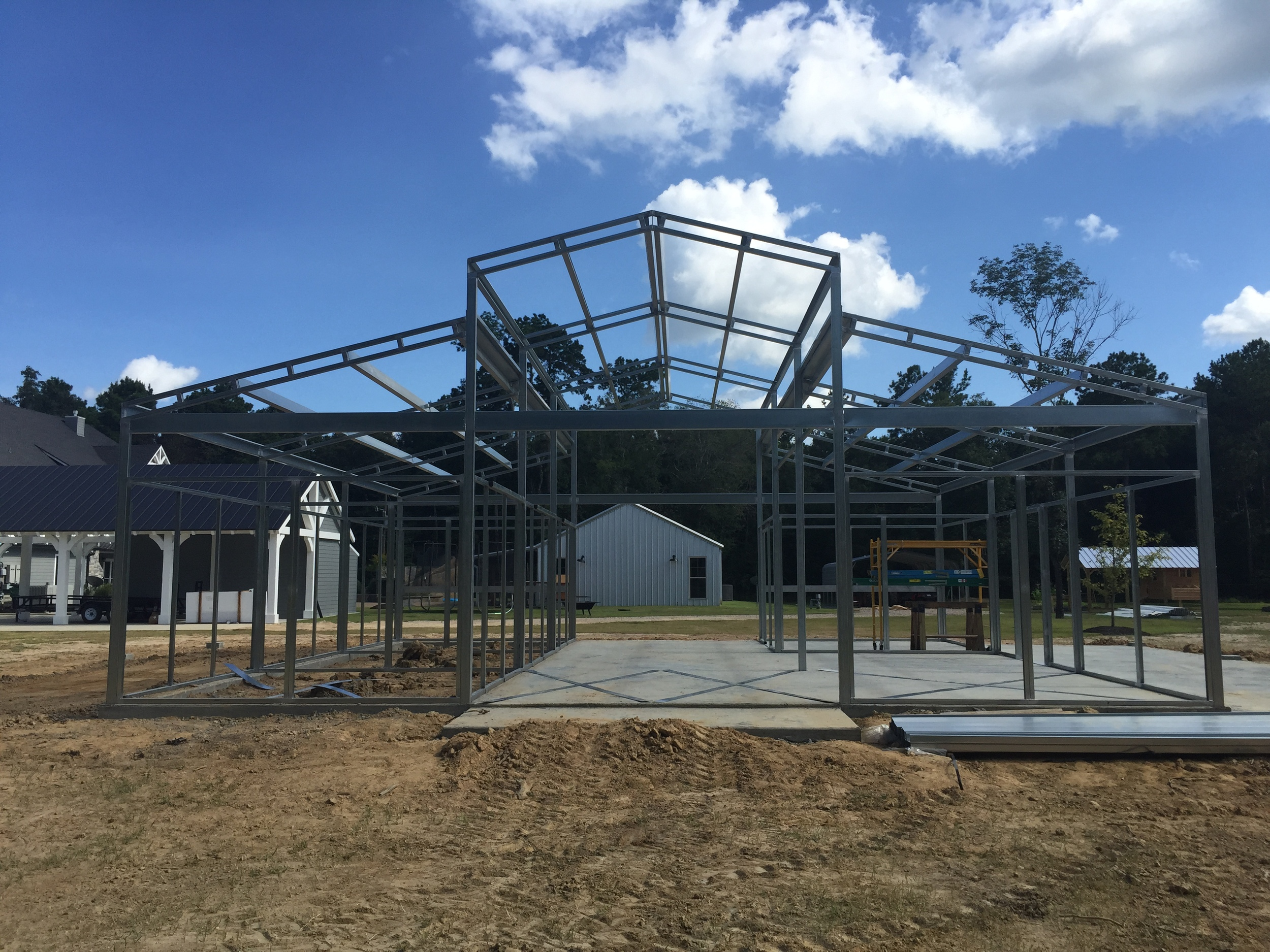 36 x 36 x 10 RCA Horse Barn with Concrete Foundation.