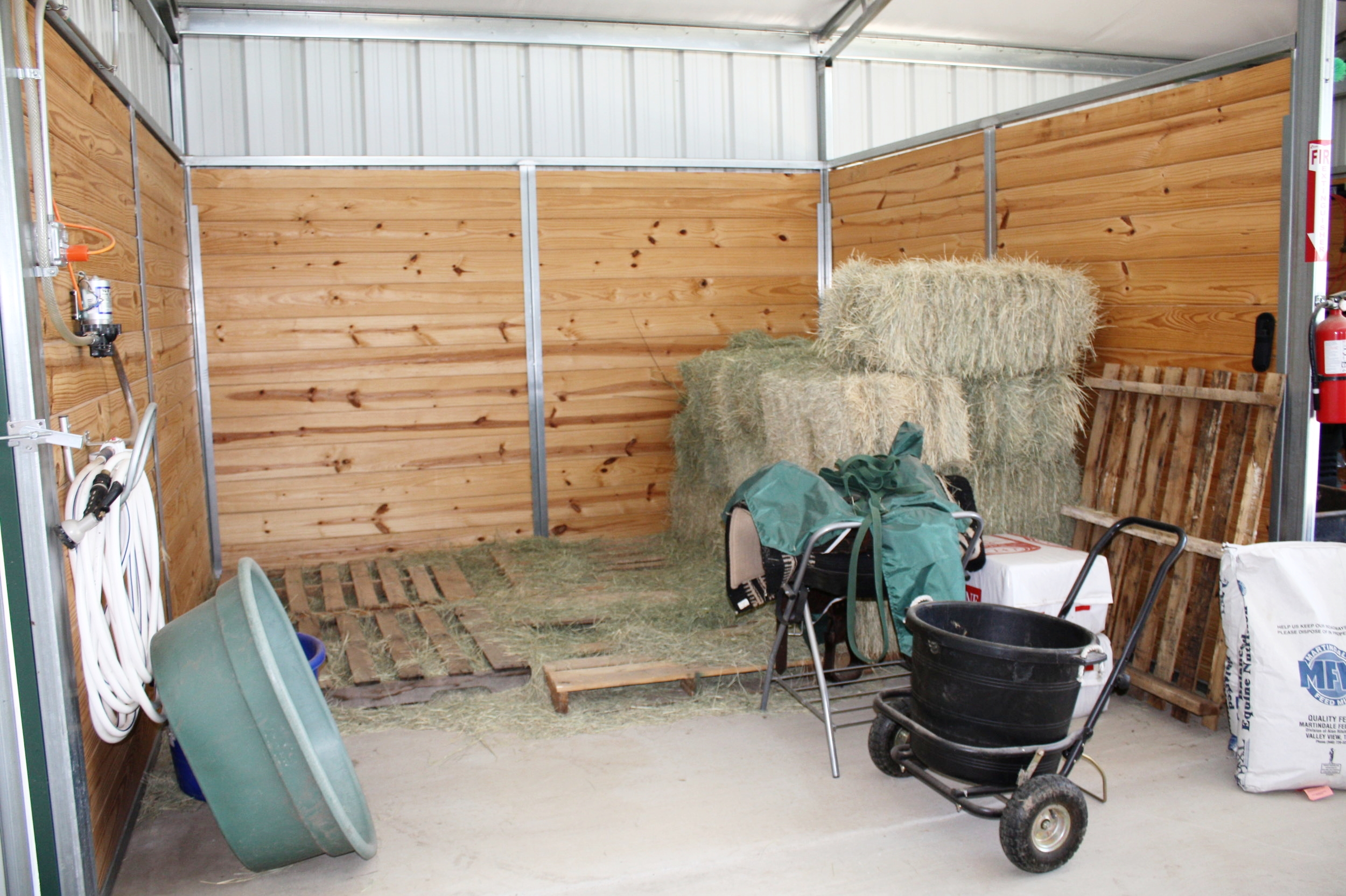 Hay Storage Area