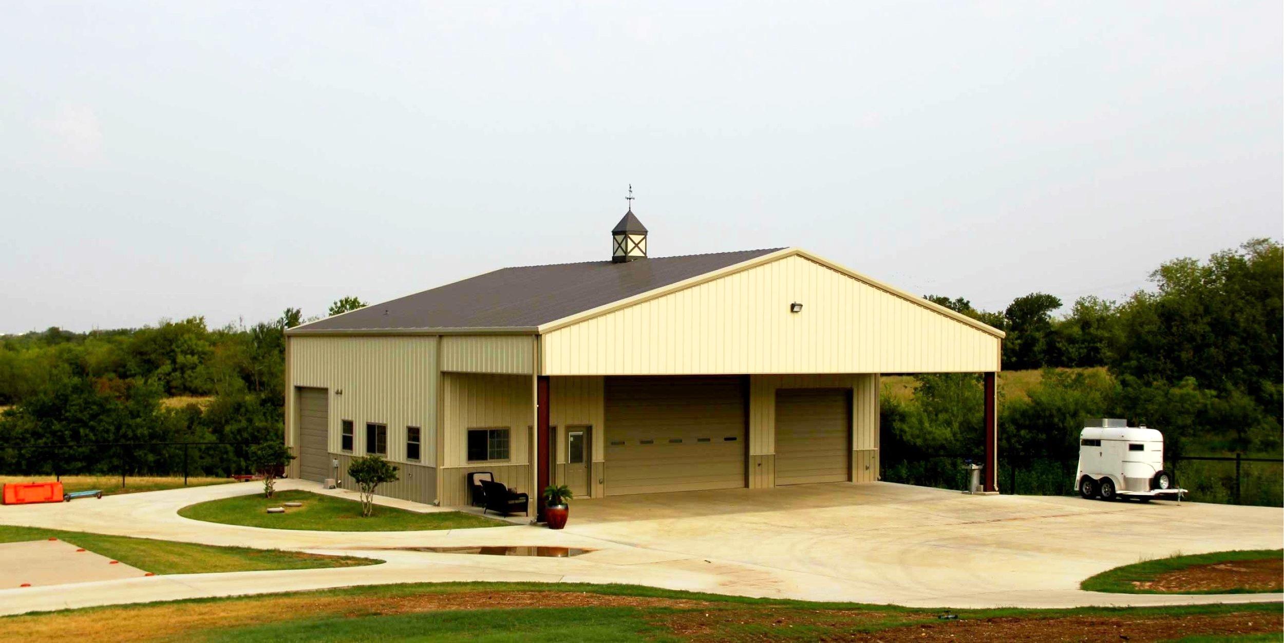 Hangar and Straight Gable Shop
