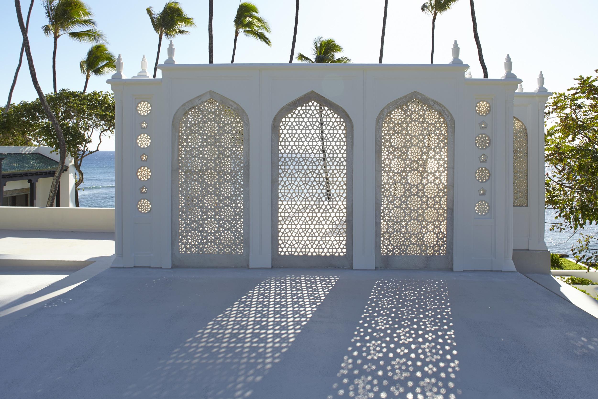 Jali Pavillion at Shangri La.     © 2014, Linny Morris, courtesy of the Doris Duke Foundation for Islamic Art, Honolulu, Hawai'i.