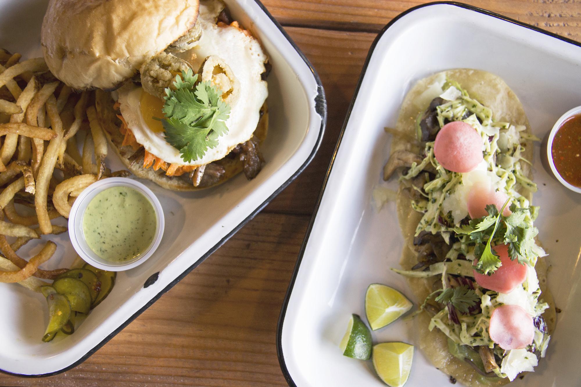 The Burger & Mushroom Tacos