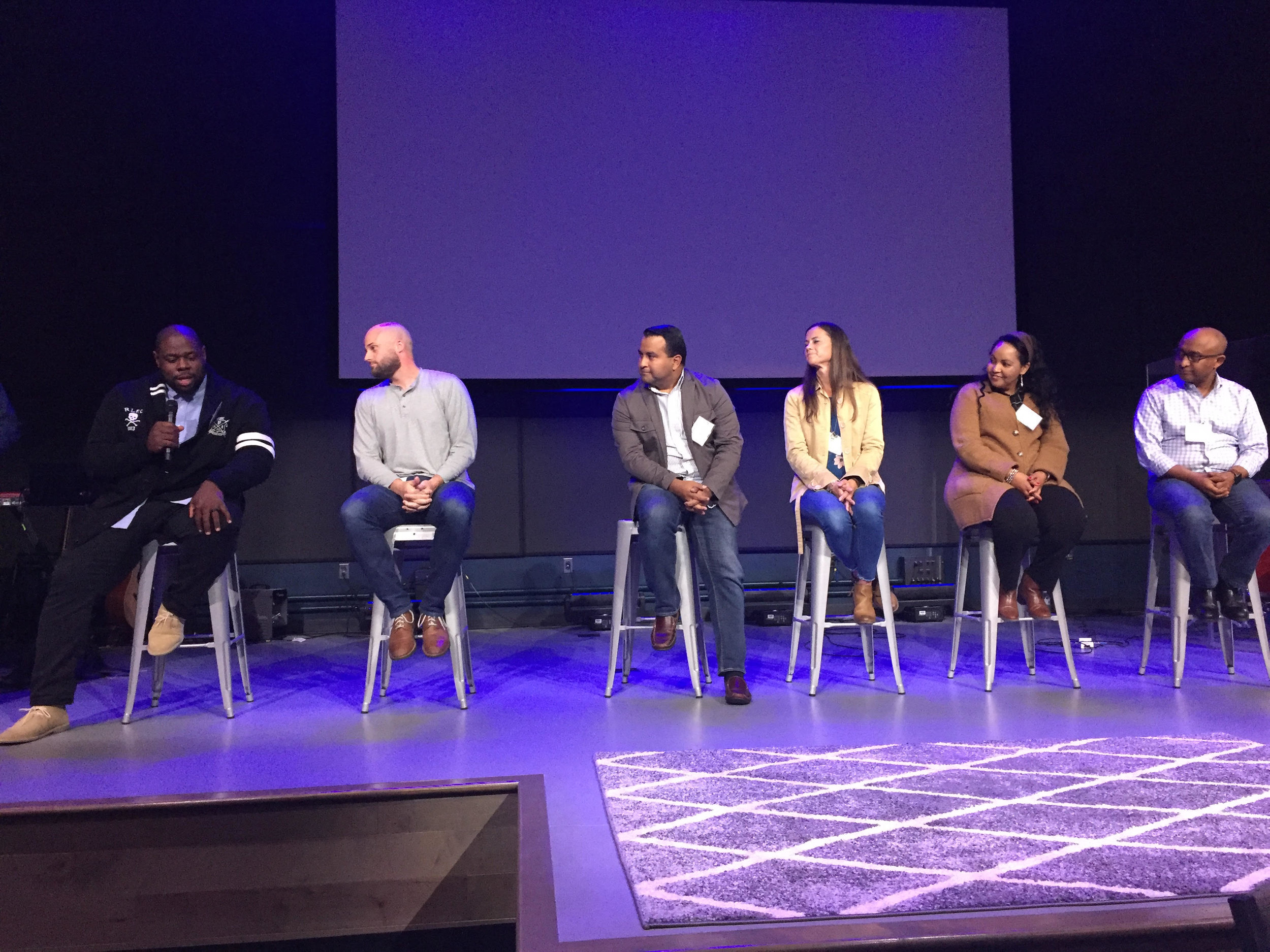 A panel of church planters share at our SENT Vision Dinner how God is changing lives through their church plants.